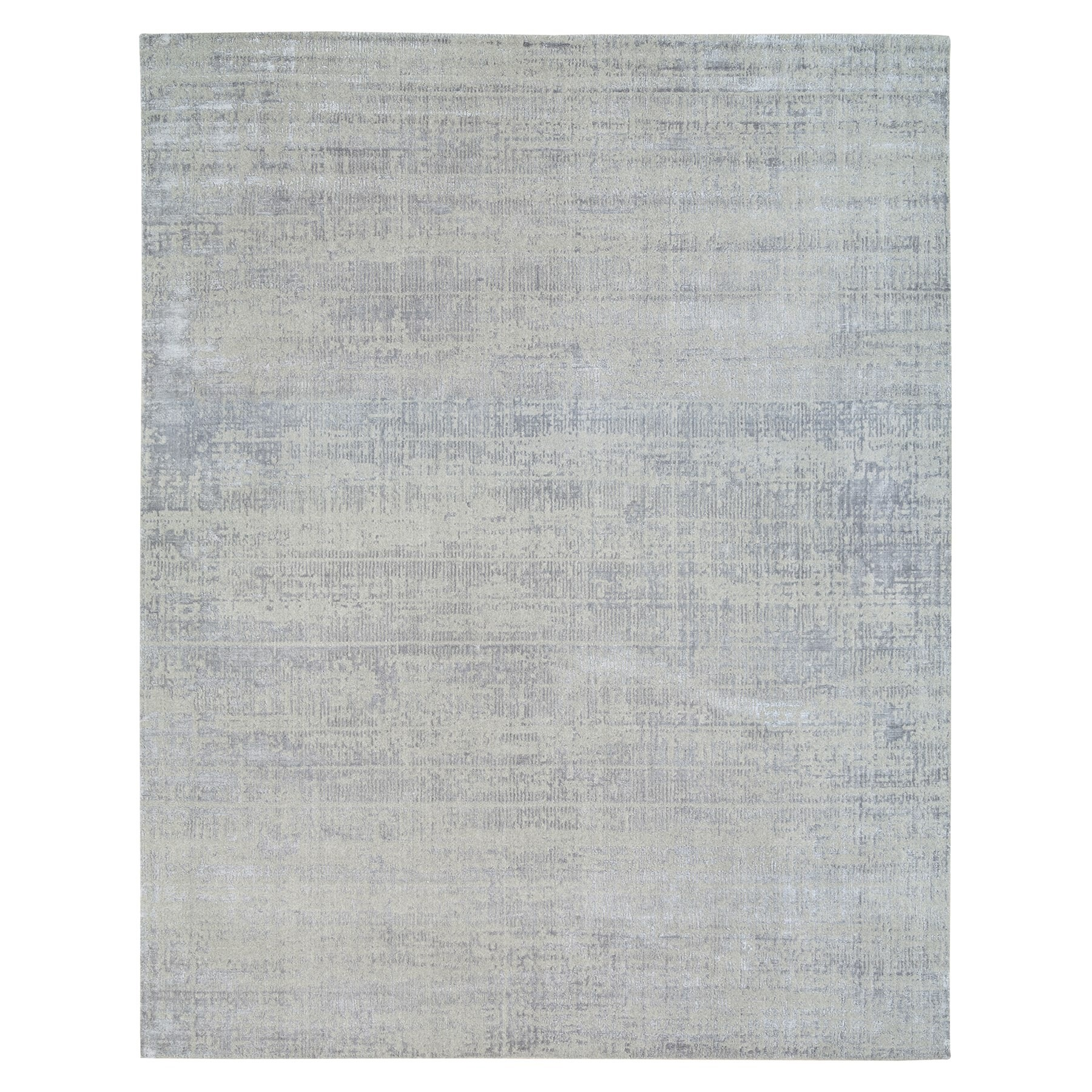 Mid Century Modern Collection Hand Loomed Grey Rug No: 1125770