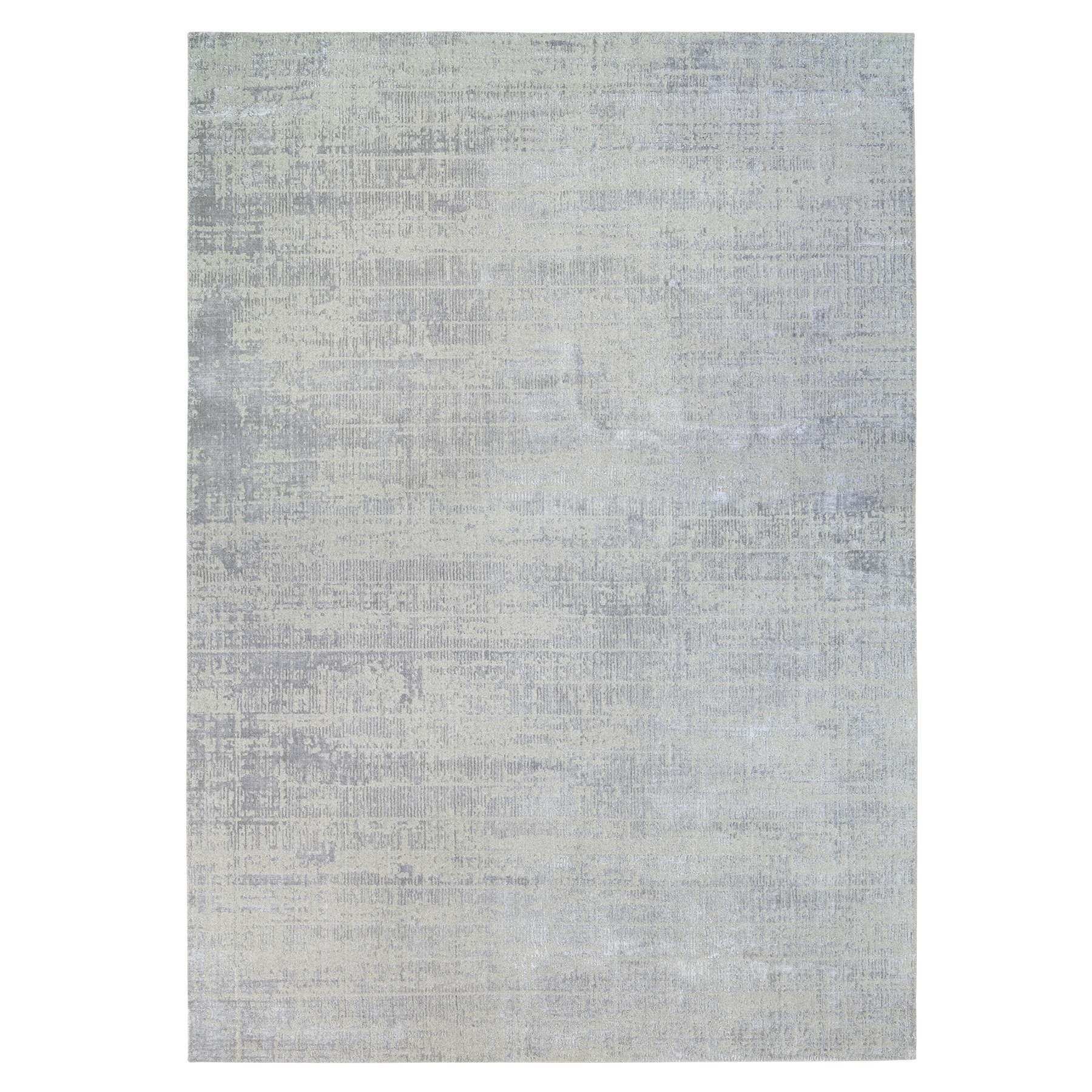 Mid Century Modern Collection Hand Loomed Grey Rug No: 1125772