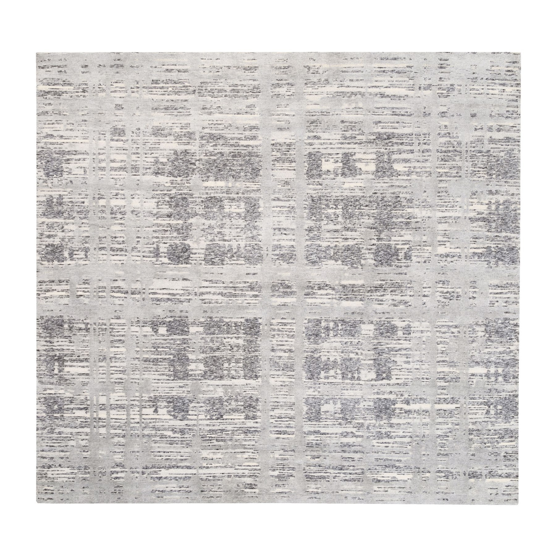 Mid Century Modern Collection Hand Knotted Grey Rug No: 1125784