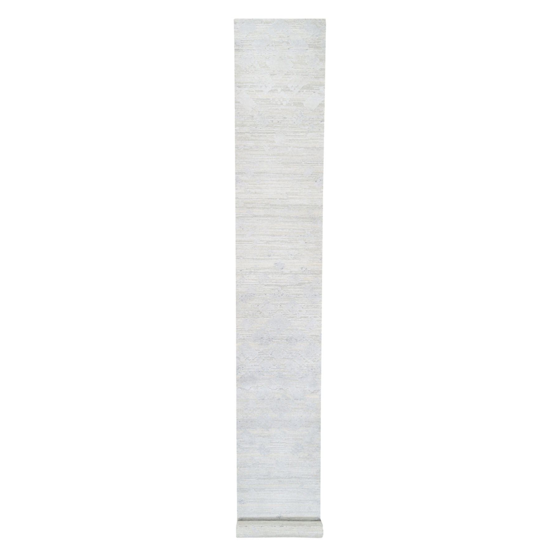 Mid Century Modern Collection Hand Knotted Ivory Rug No: 1125846