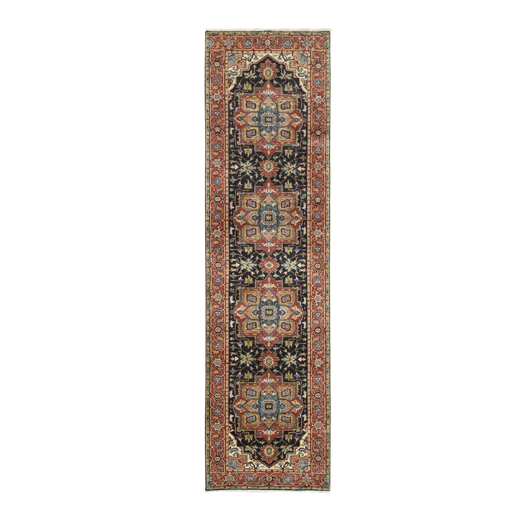 Serapi Heriz and Bakhshayesh Collection Hand Knotted Black Rug No: 1125942