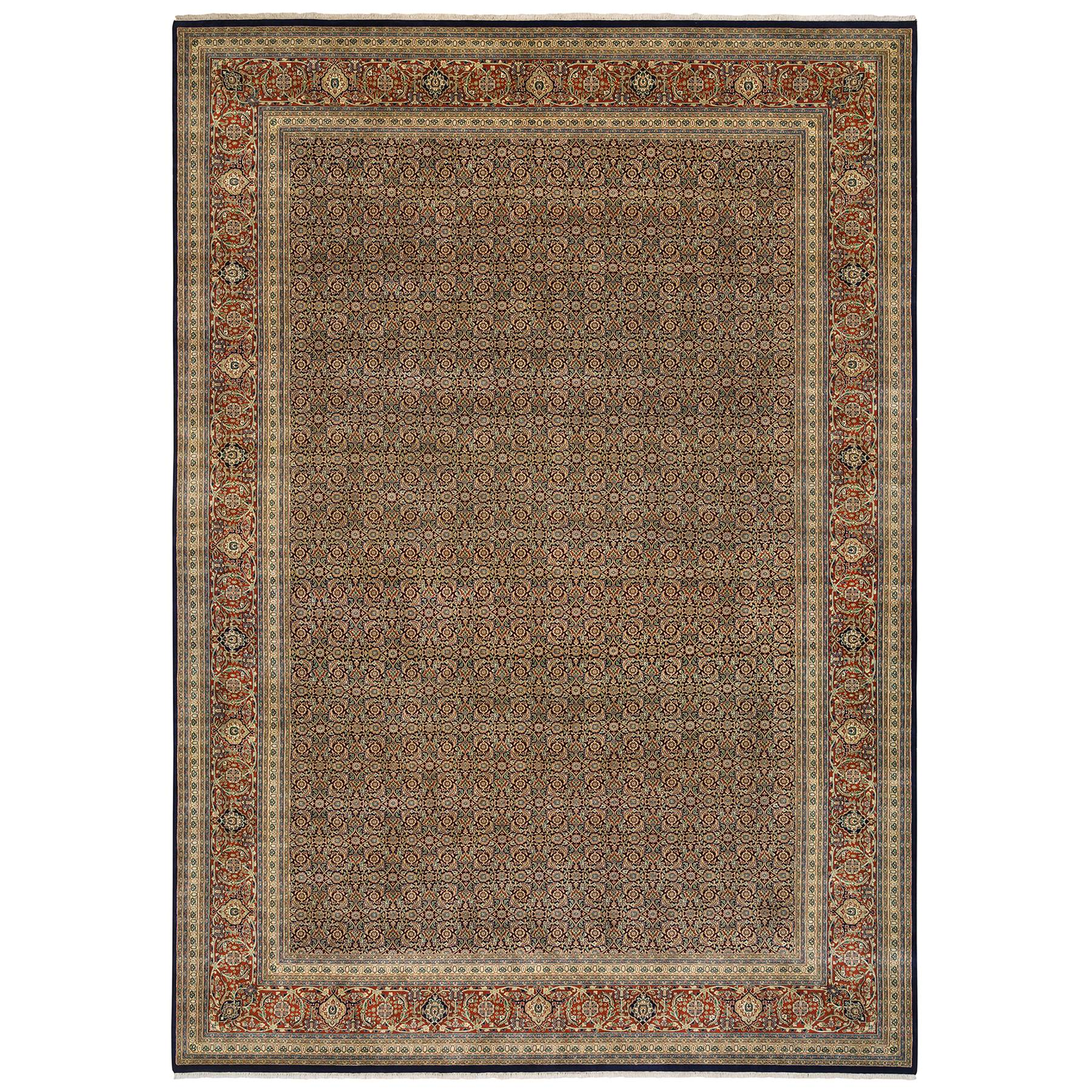 Pirniakan Collection Hand Knotted Blue Rug No: 1126044