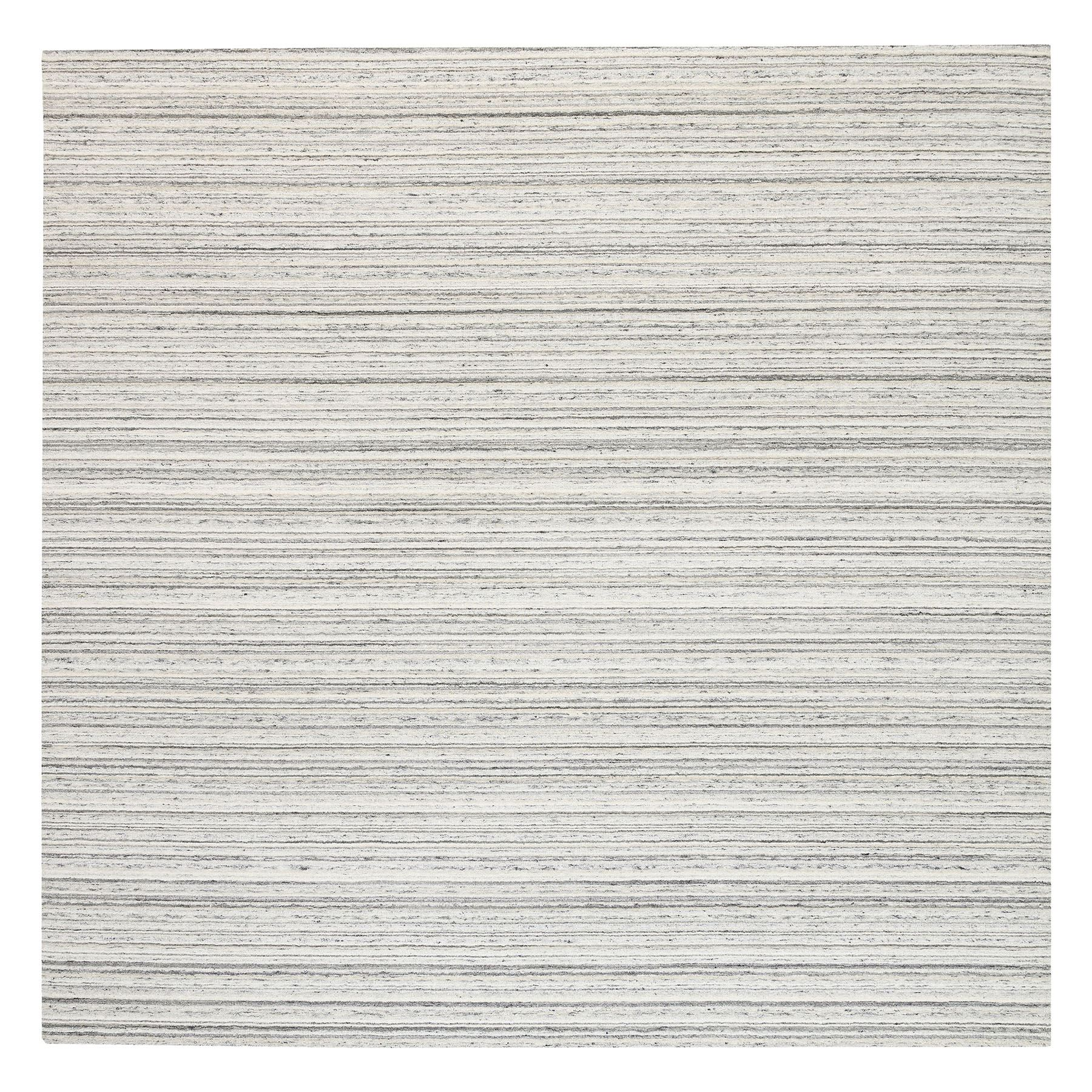Mid Century Modern Collection Hand Loomed Grey Rug No: 1126066