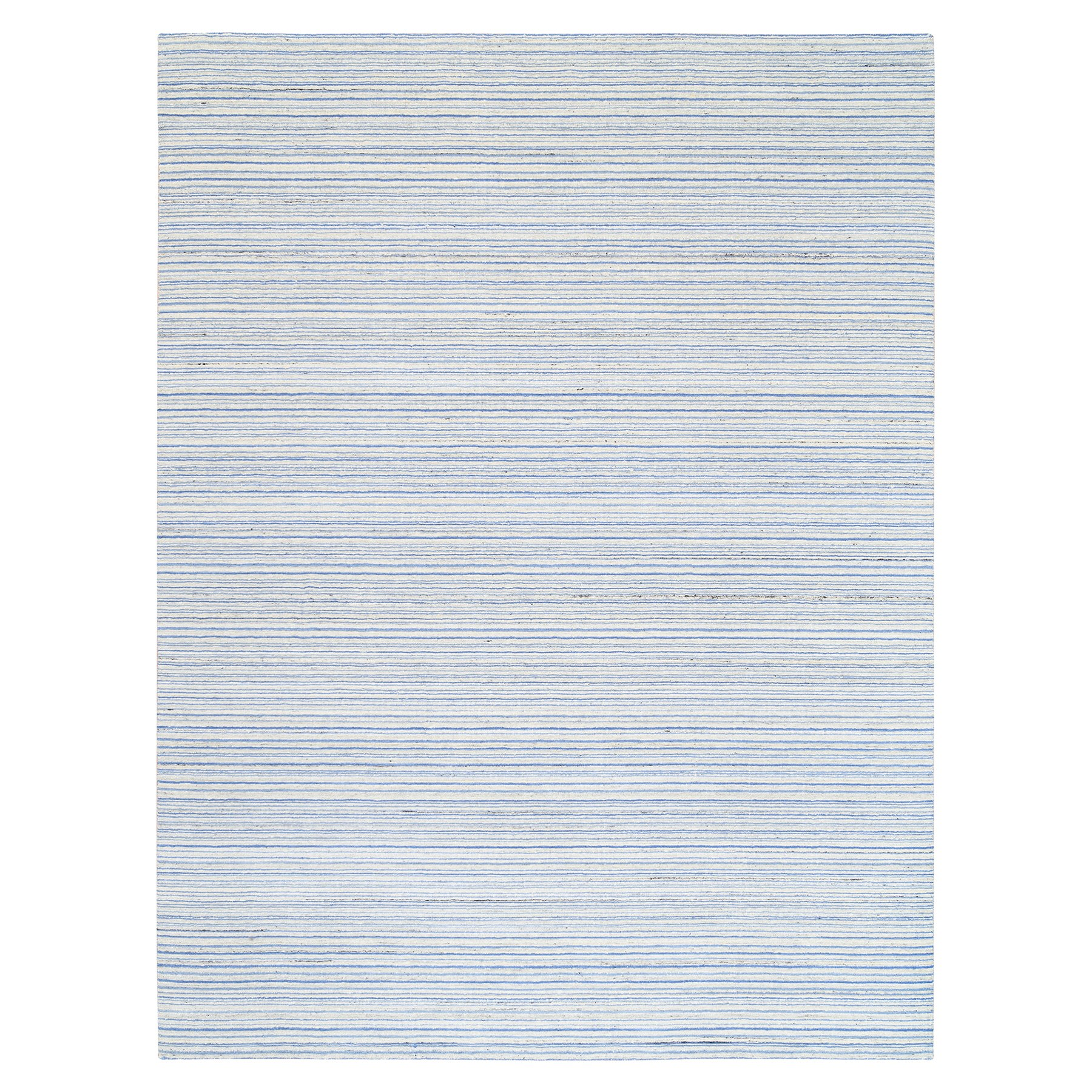 Mid Century Modern Collection Hand Loomed Blue Rug No: 1126074