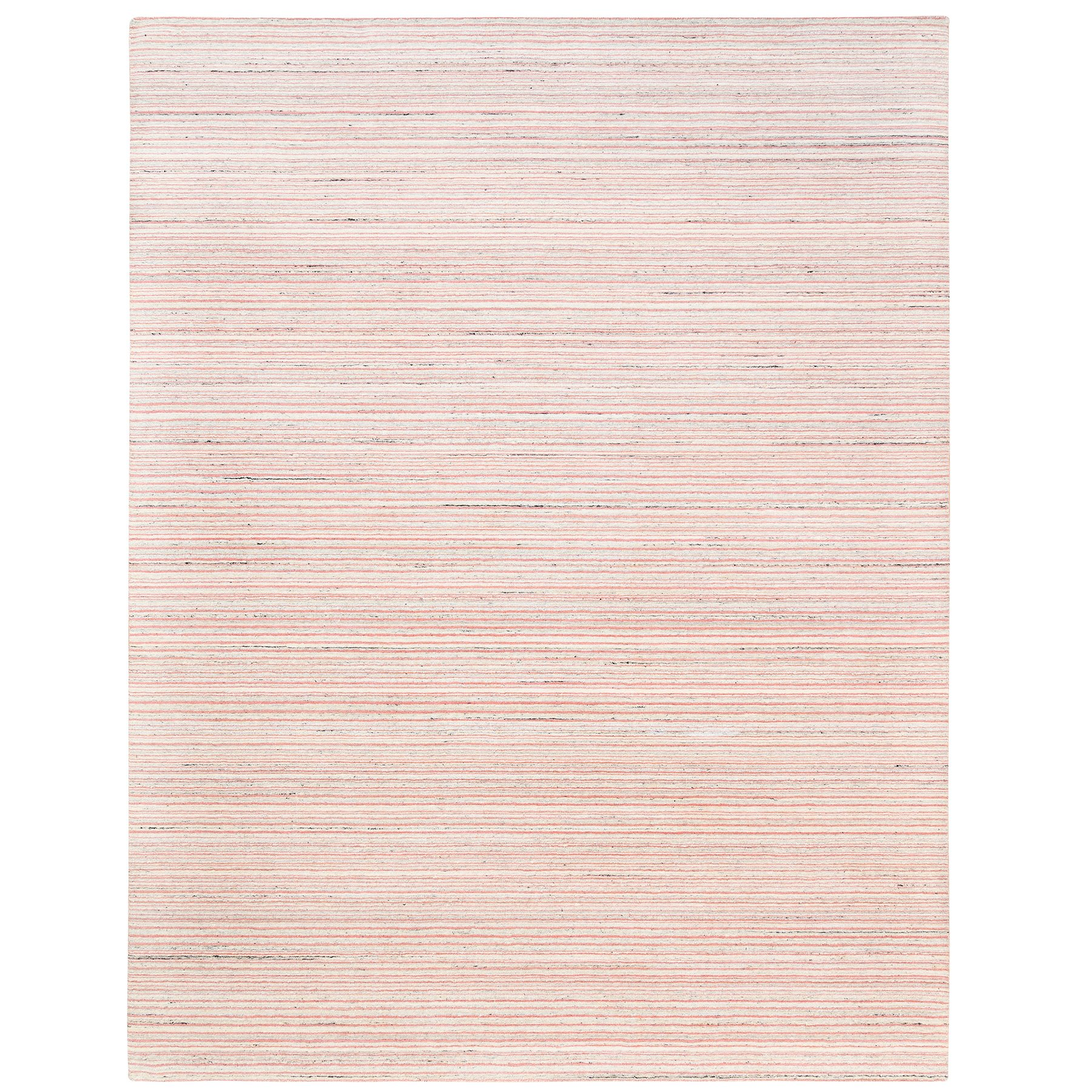 Mid Century Modern Collection Hand Loomed Pink Rug No: 1126078