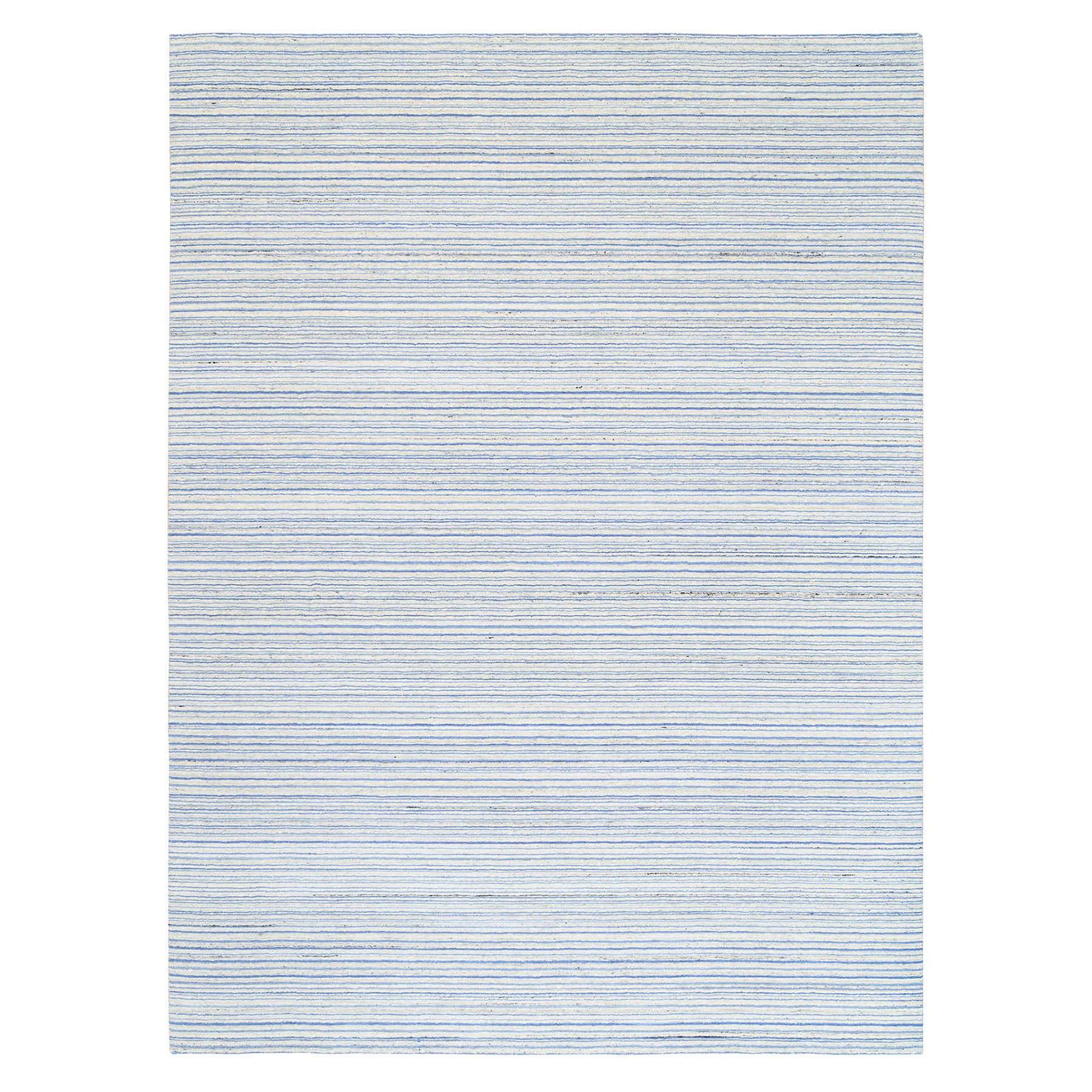 Mid Century Modern Collection Hand Loomed Blue Rug No: 1126080