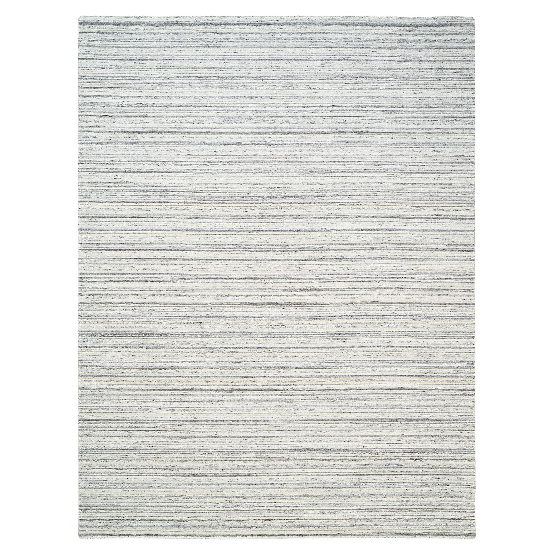 Mid Century Modern Collection Hand Loomed Grey Rug No: 1126088