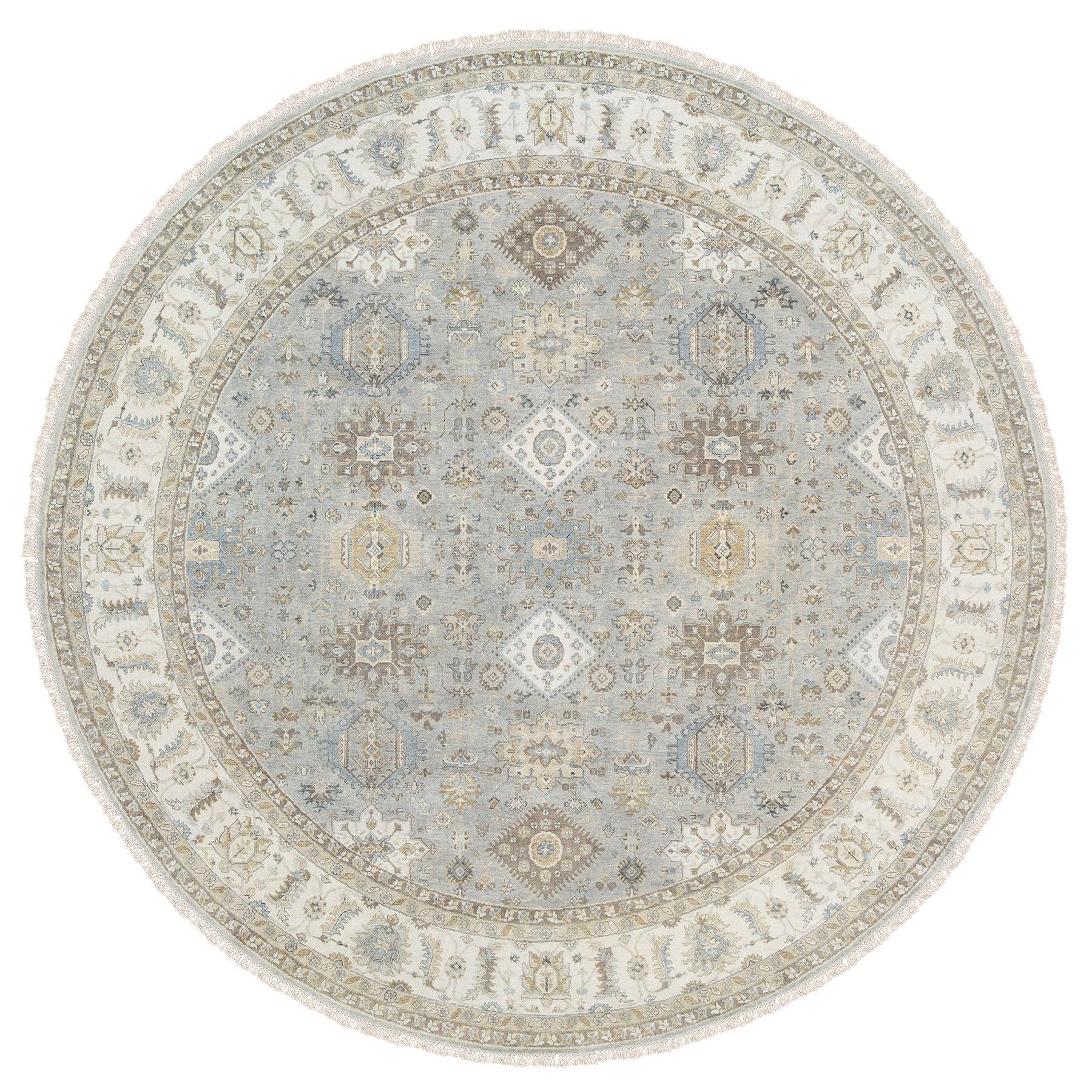 Serapi Heriz and Bakhshayesh Collection Hand Knotted Grey Rug No: 1126138
