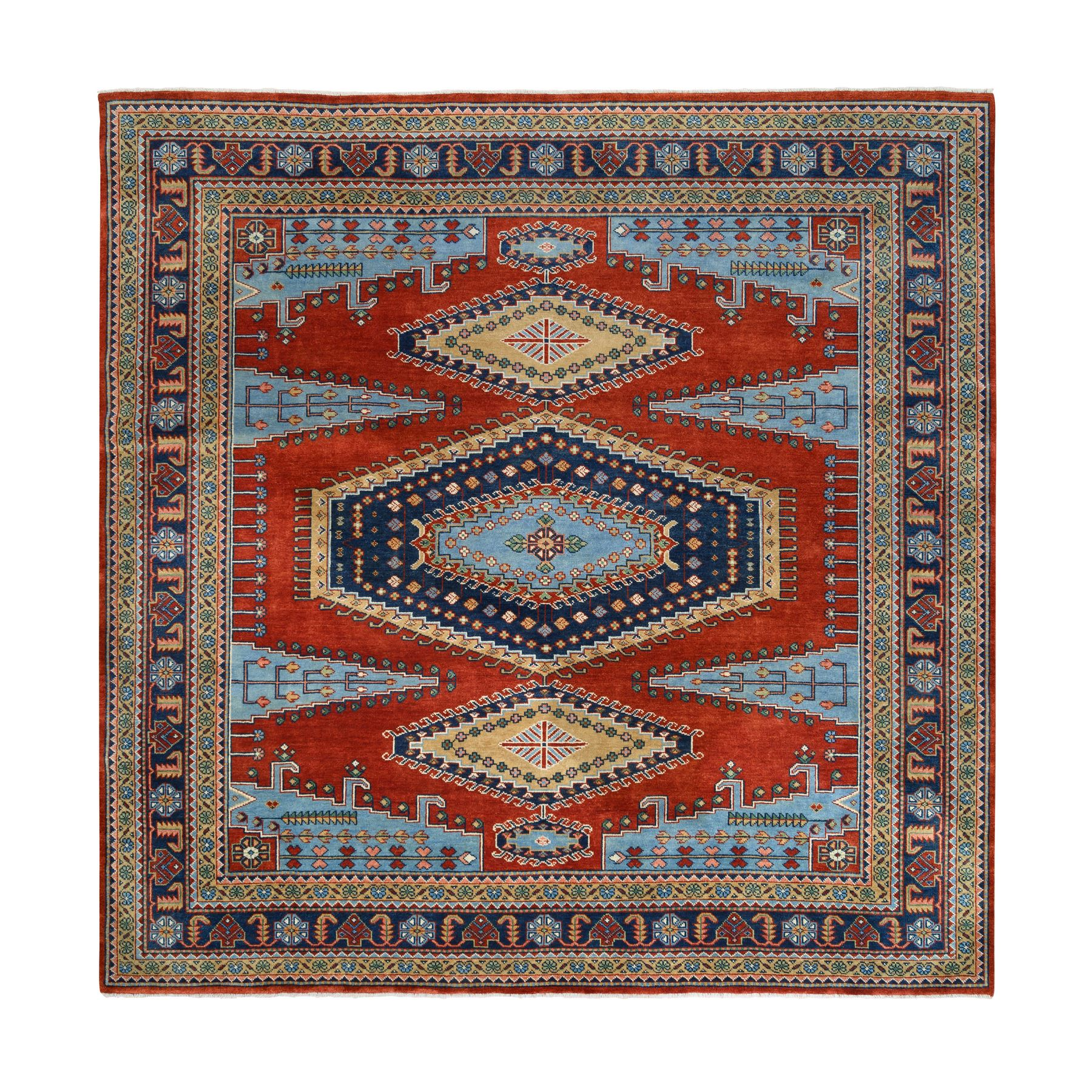 Serapi Heriz and Bakhshayesh Collection Hand Knotted Red Rug No: 1126192