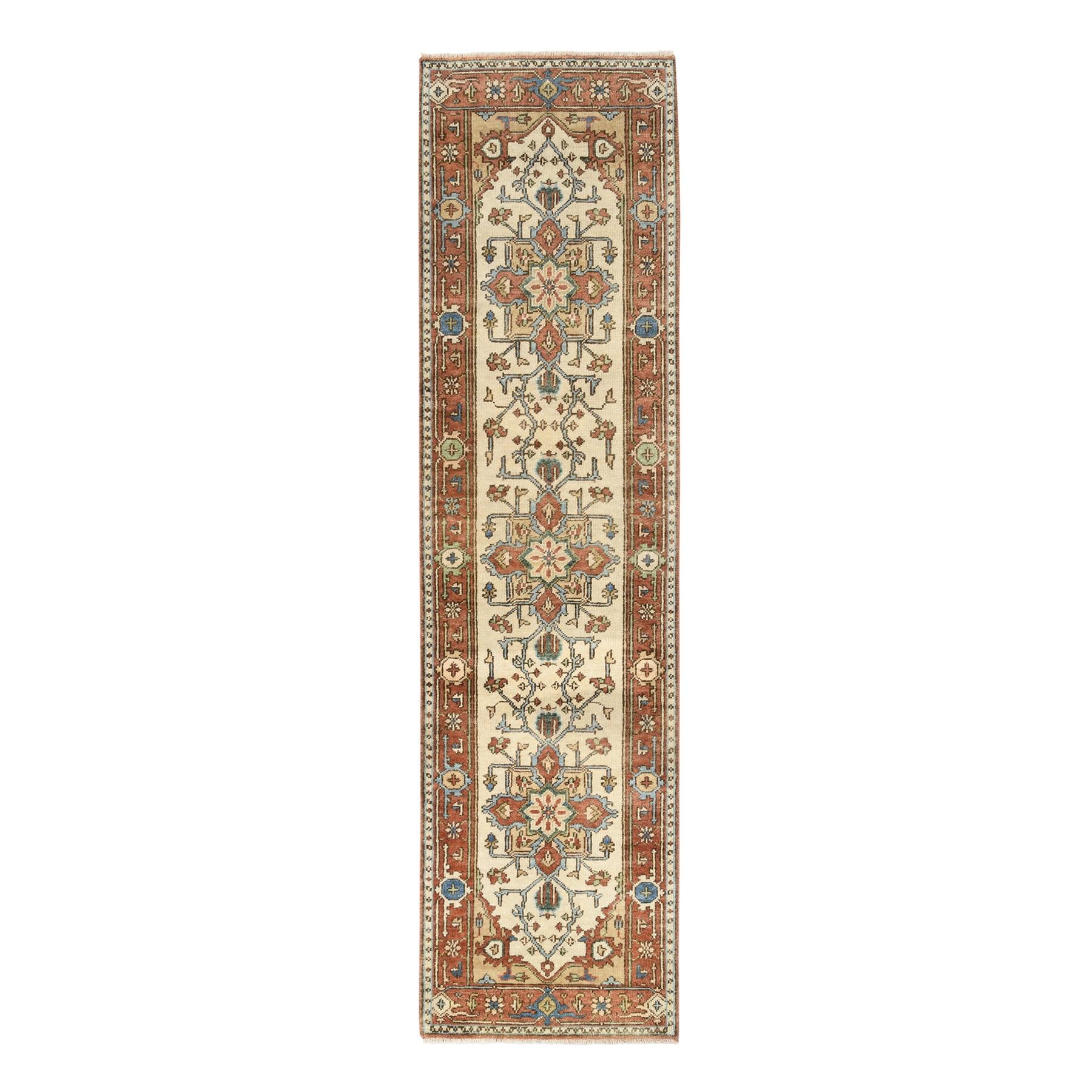 Serapi Heriz and Bakhshayesh Collection Hand Knotted Ivory Rug No: 1126342