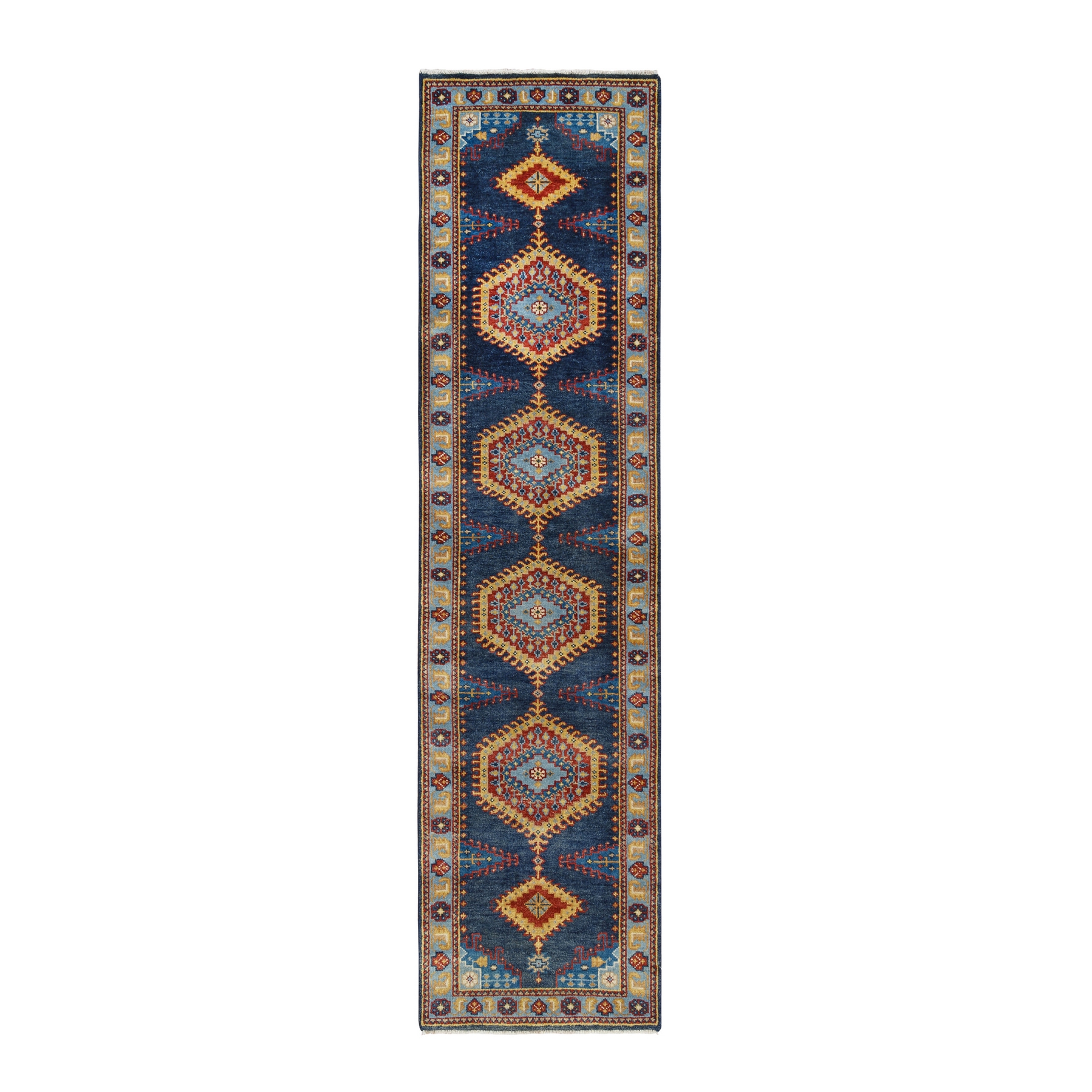 Serapi Heriz and Bakhshayesh Collection Hand Knotted Blue Rug No: 1126346