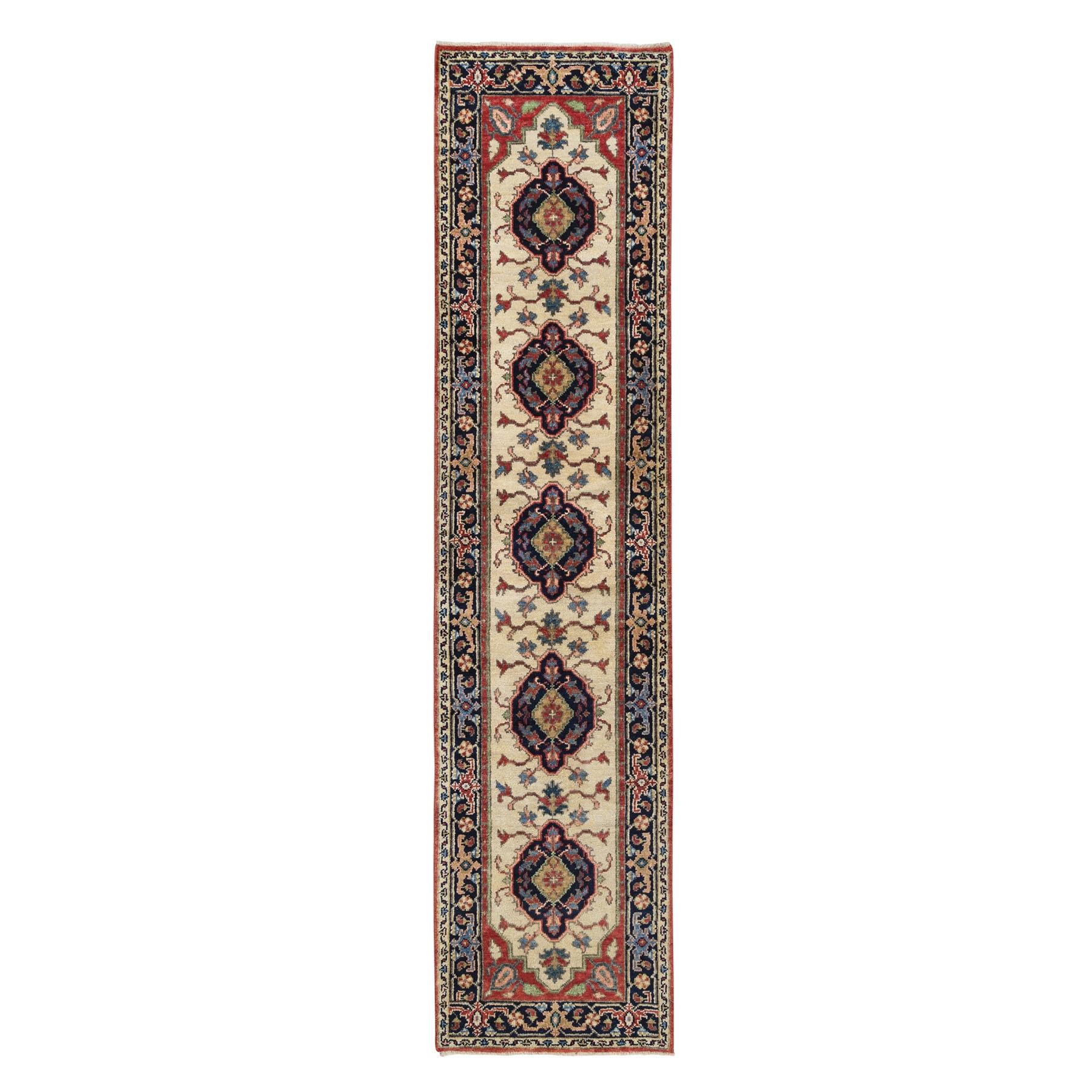 Serapi Heriz and Bakhshayesh Collection Hand Knotted Ivory Rug No: 1126350