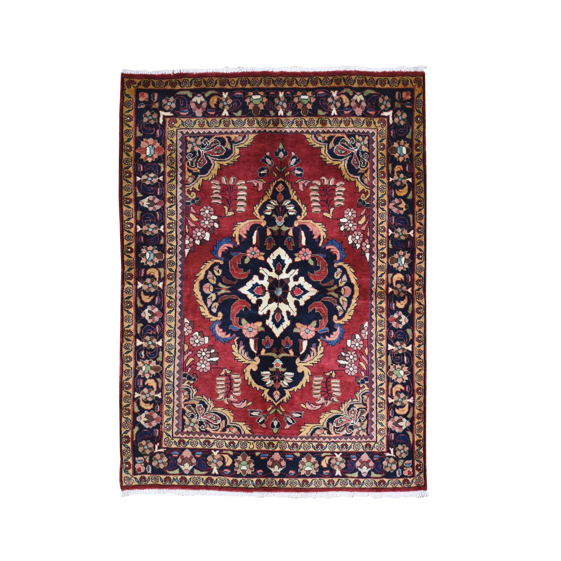 "5'5""x7'3"" New Persian Lilihan Rich Colors Pure Wool Hand Knotted Oriental Rug"