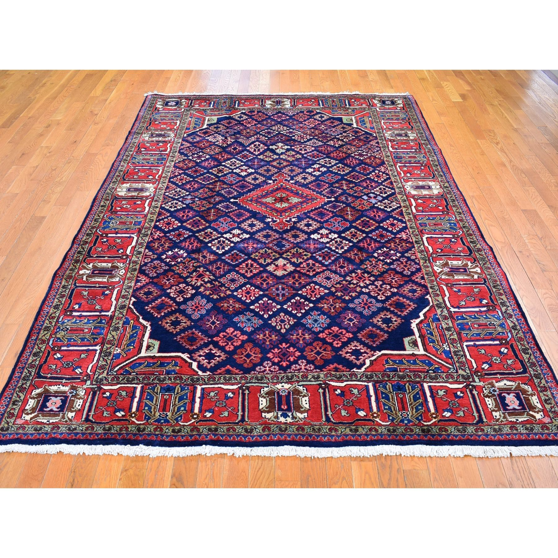 """6'10""""x10' Vintage Persian Josheghan Good Condition Clean Organic Wool Hand Knotted Oriental Rug"""