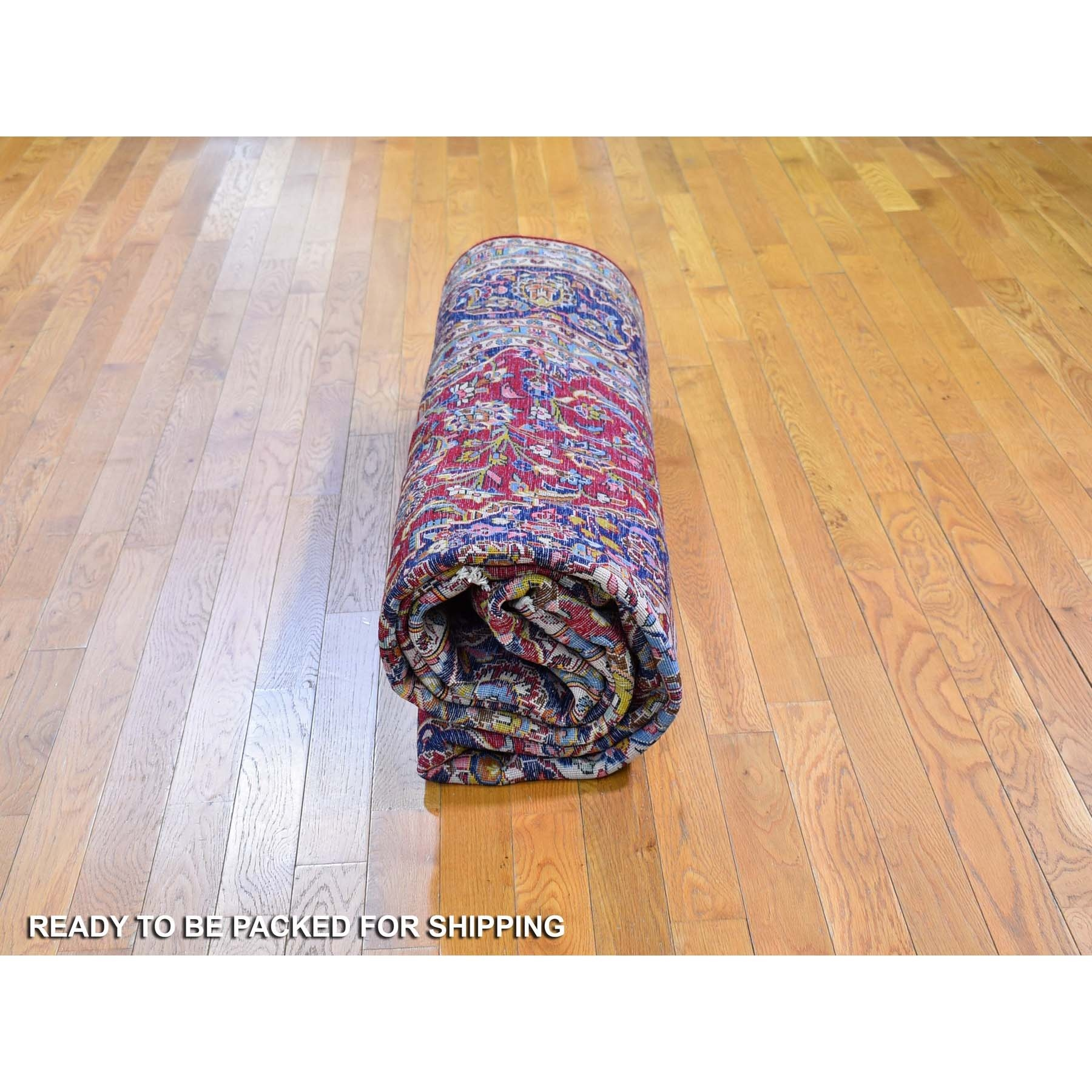 """7'1""""x11'2"""" Semi Antique Persian Kashan Full Pile Excellent Condition Pure Wool Hand Knotted Oriental Rug"""