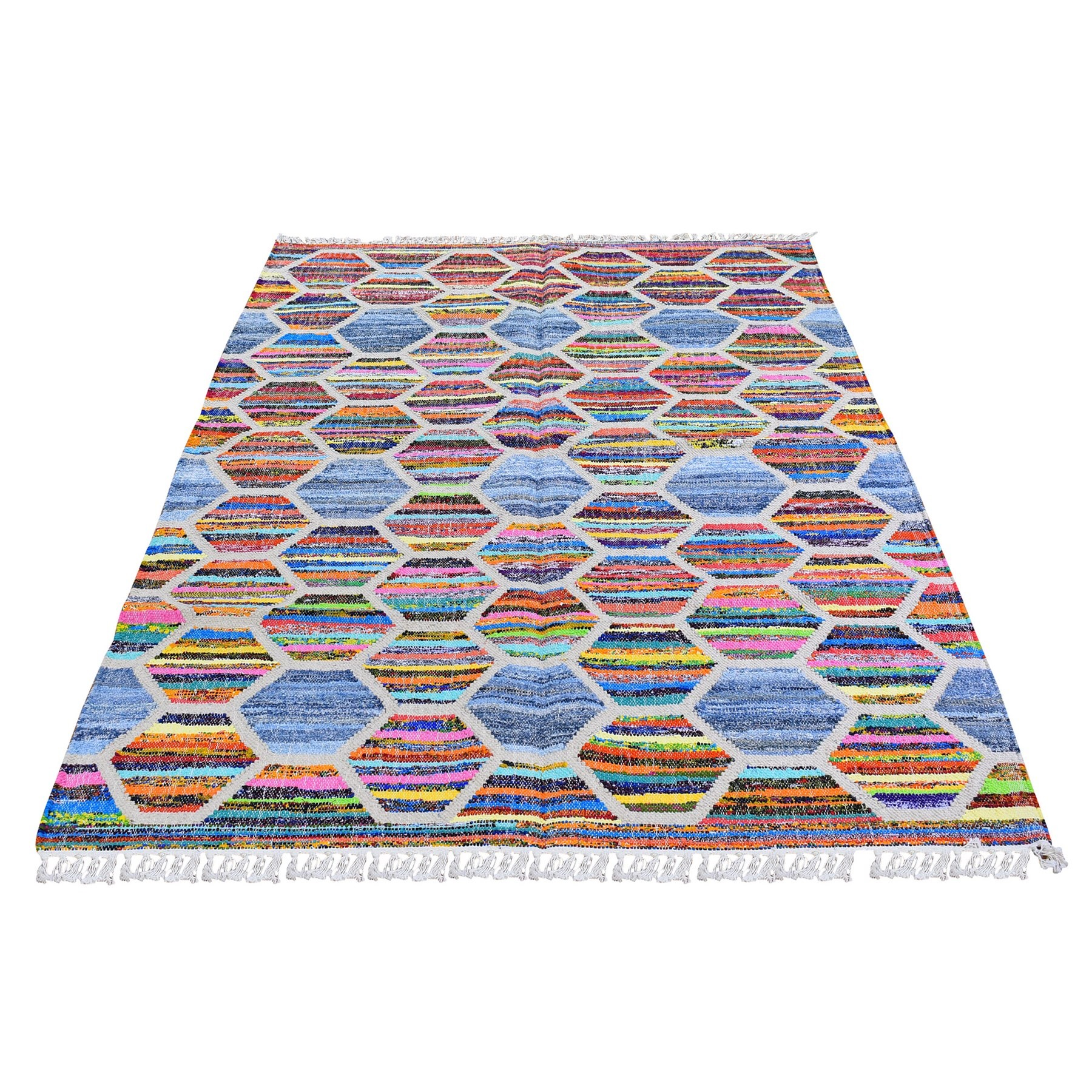 Fine Kilim Collection Hand Woven Blue Rug No: 1132252