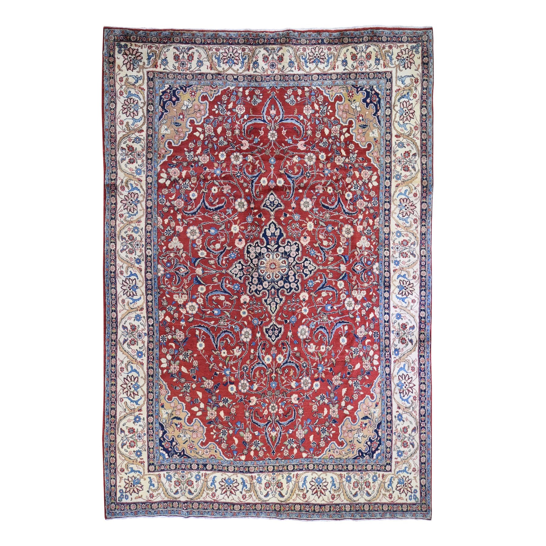 Classic Persian Collection Hand Knotted Red Rug No: 1132498