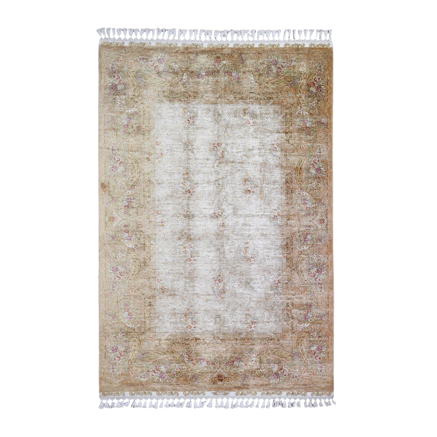 Pirniakan Collection Hand Knotted Ivory Rug No: 1132528