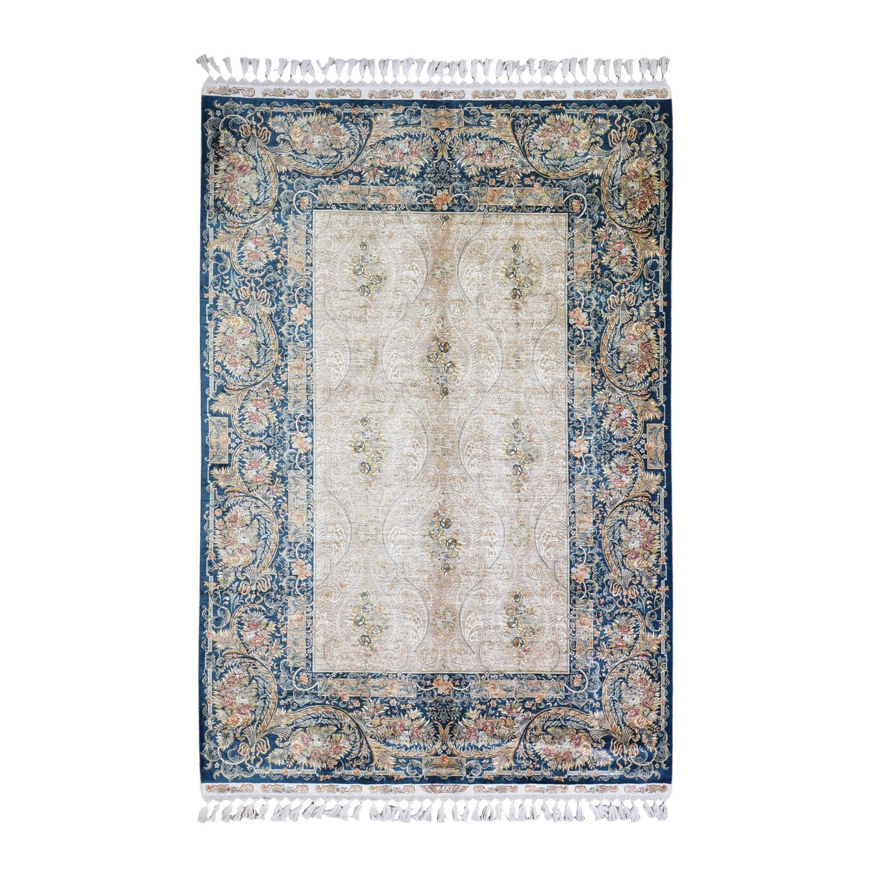 Classic Persian Collection Hand Knotted Ivory Rug No: 1132558