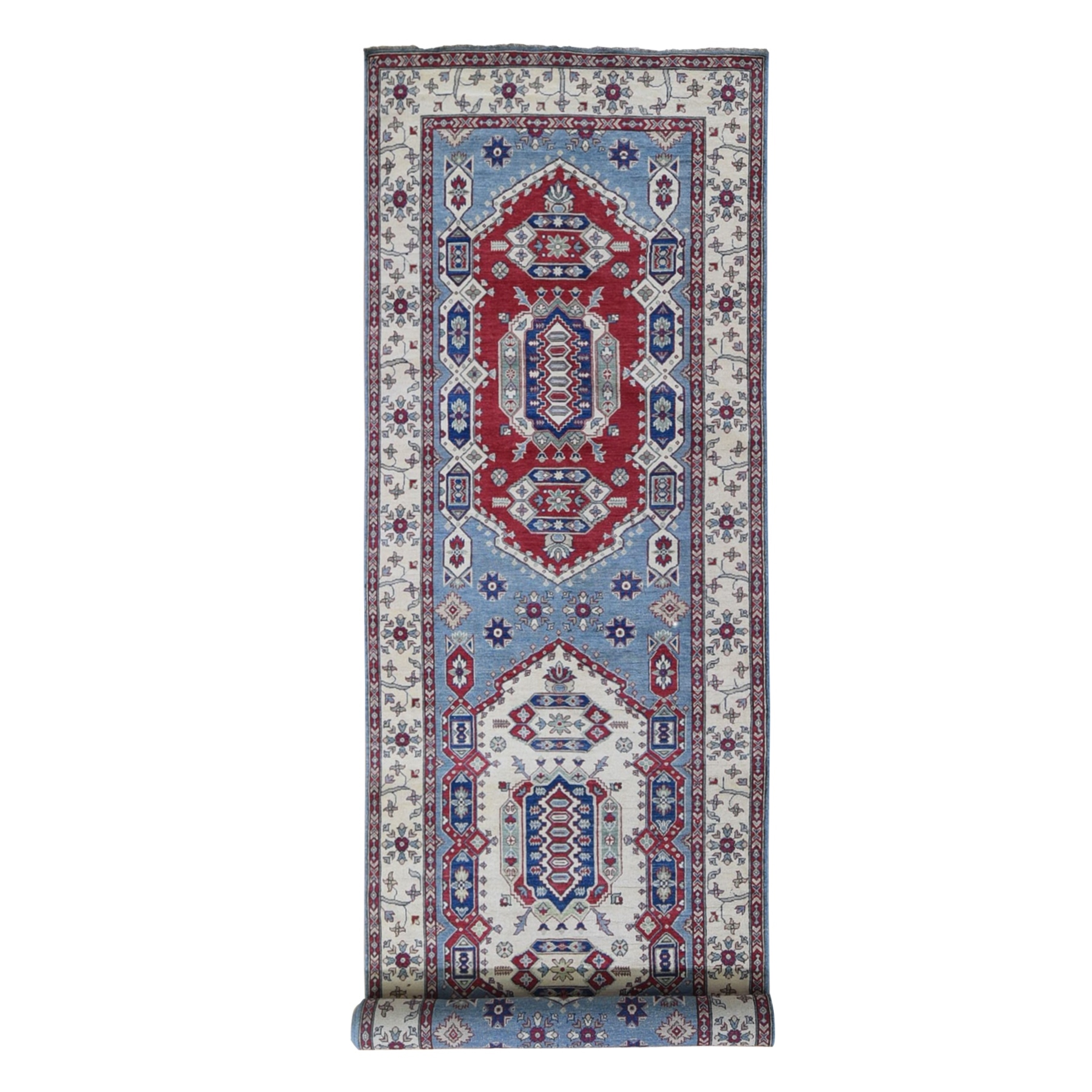 Caucasian Collection Hand Knotted Blue Rug No: 1132586