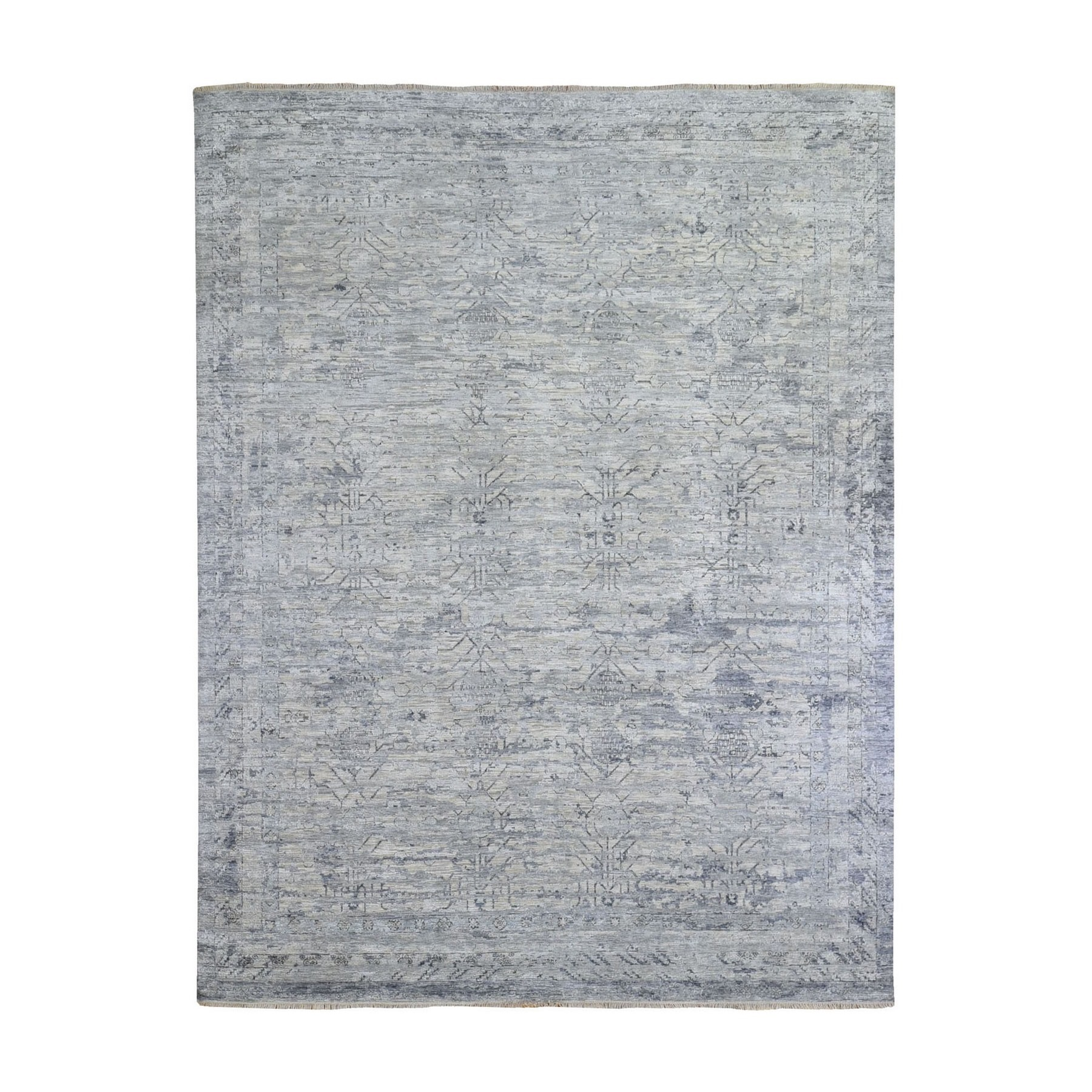 Agra And Turkish Collection Hand Knotted Grey Rug No: 1132722