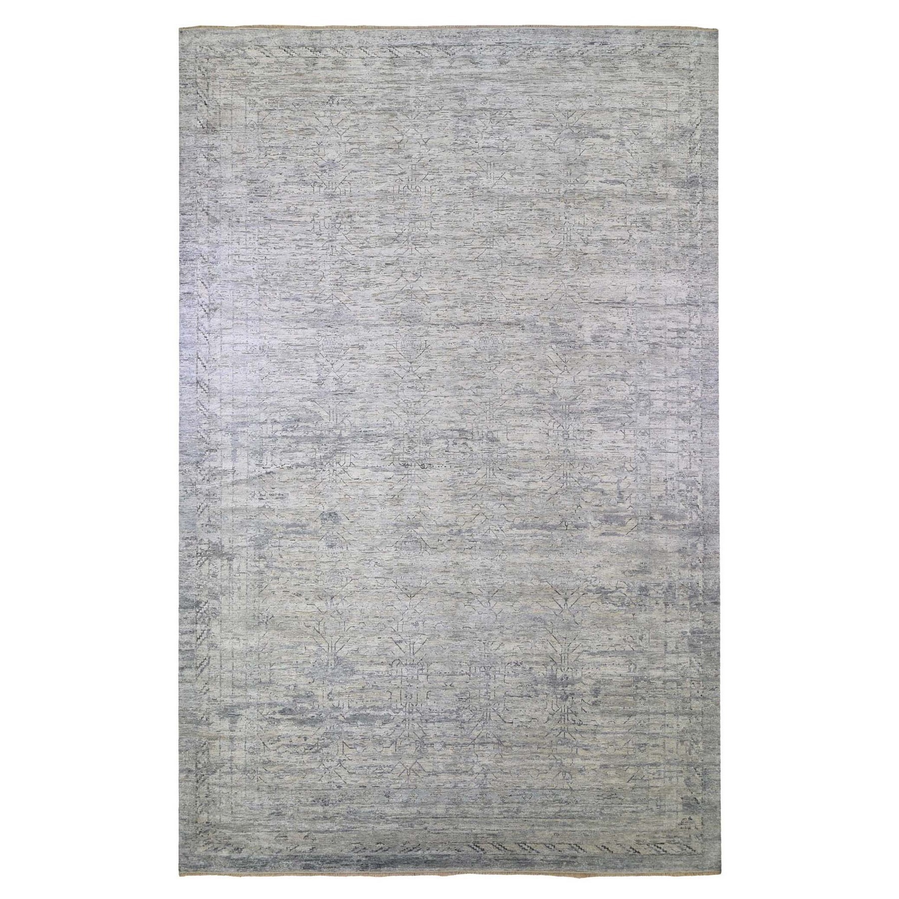 Agra And Turkish Collection Hand Knotted Grey Rug No: 1132780