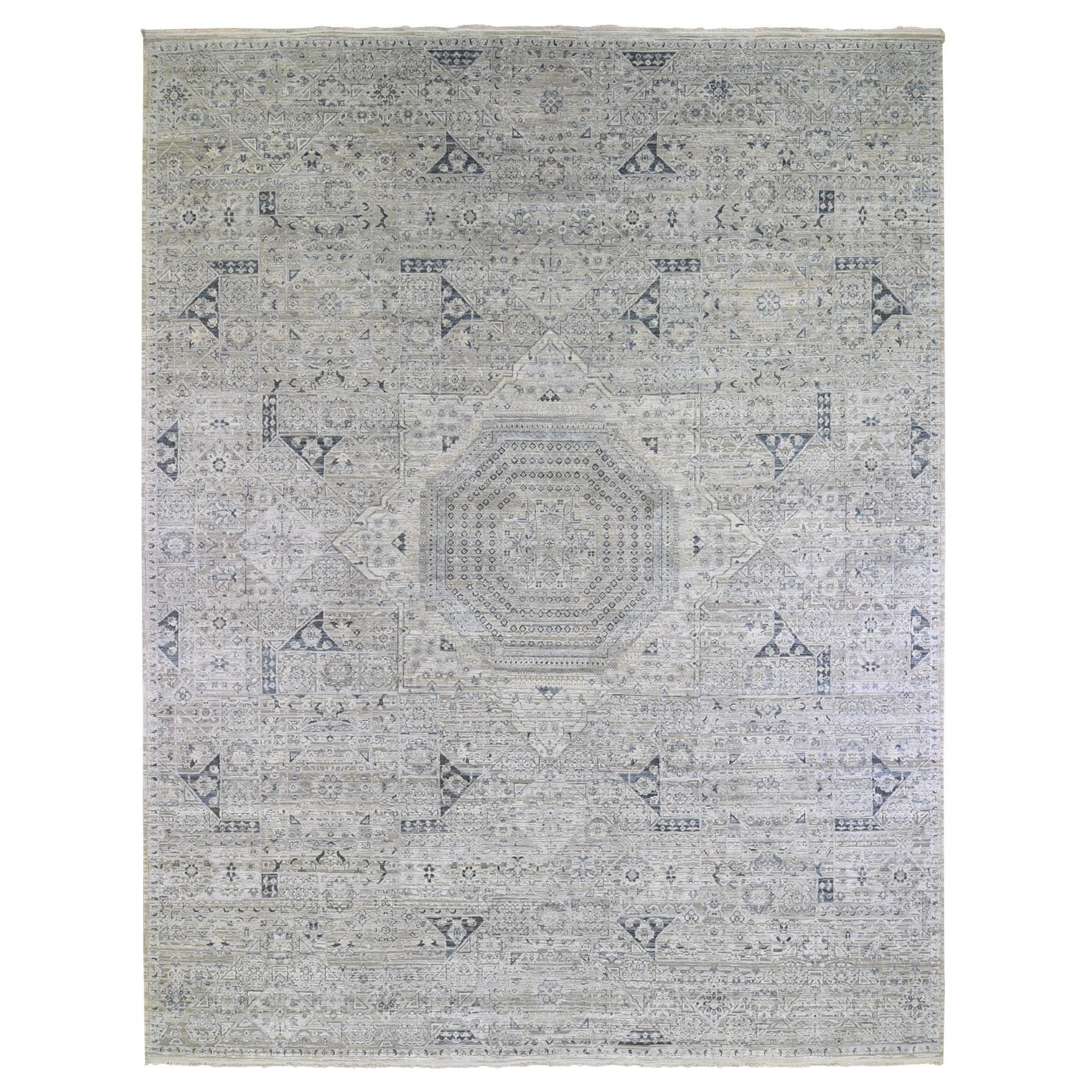 Intricate Collection Hand Knotted Grey Rug No: 1132960