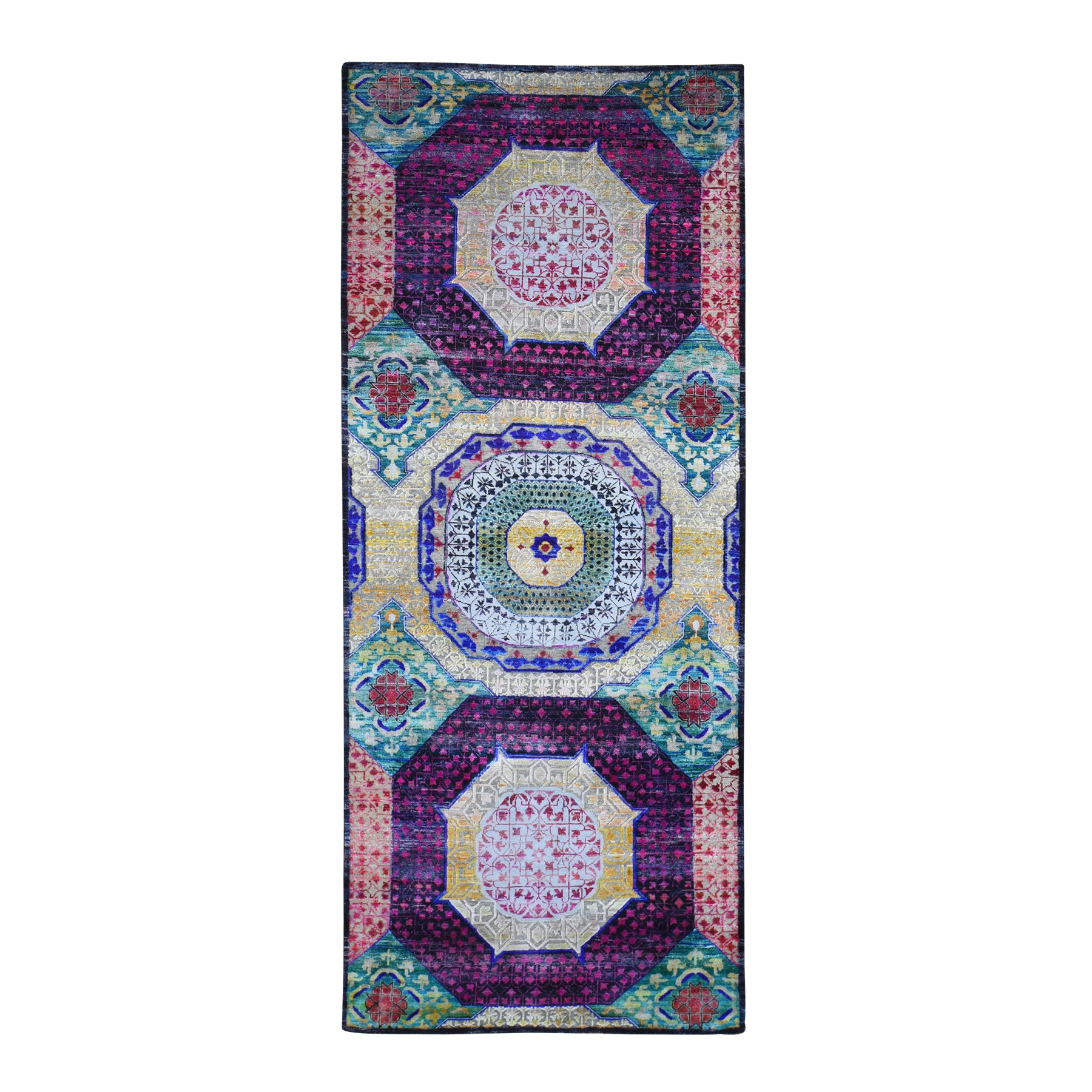 Intricate Collection Hand Knotted Yellow Rug No: 1132988