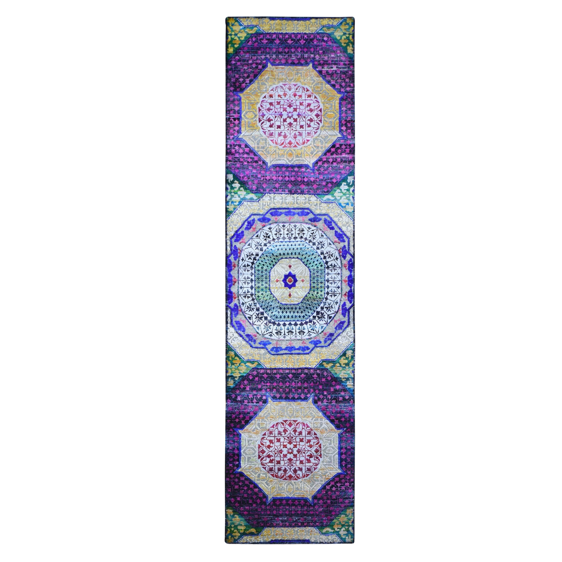 Intricate Collection Hand Knotted Yellow Rug No: 1132992