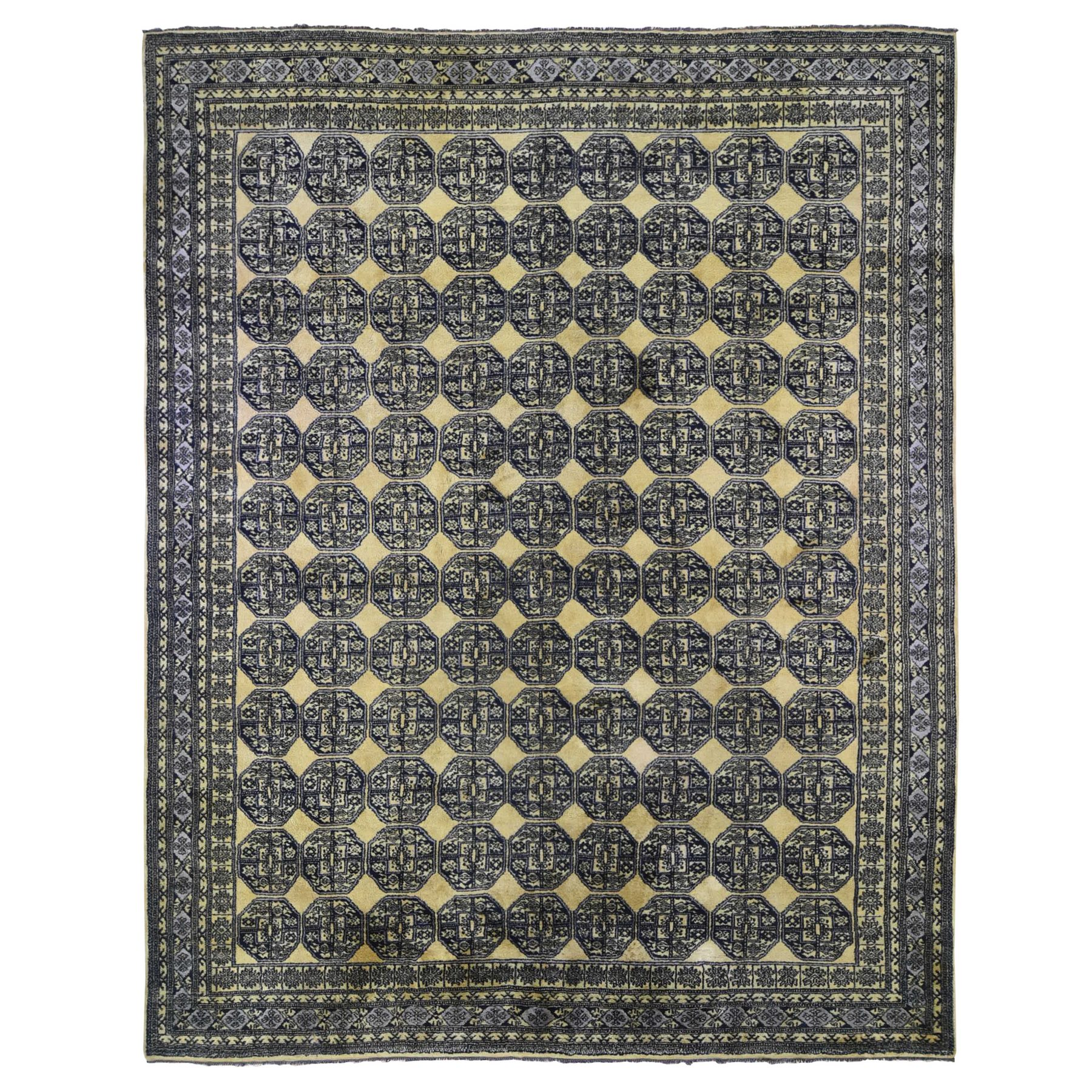 Nomadic And Village Collection Hand Knotted Yellow Rug No: 1133200