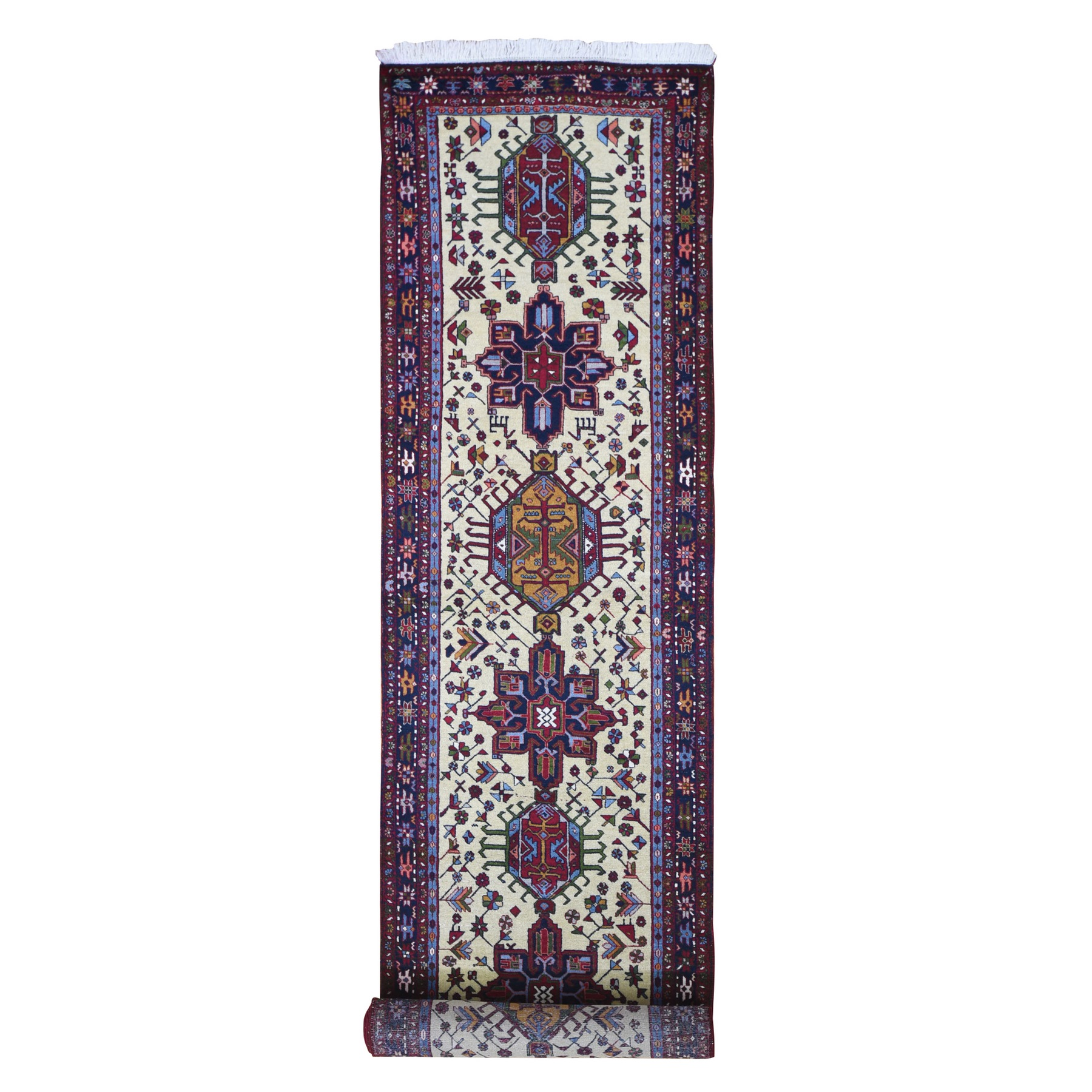 Classic Persian Collection Hand Knotted Ivory Rug No: 1133288