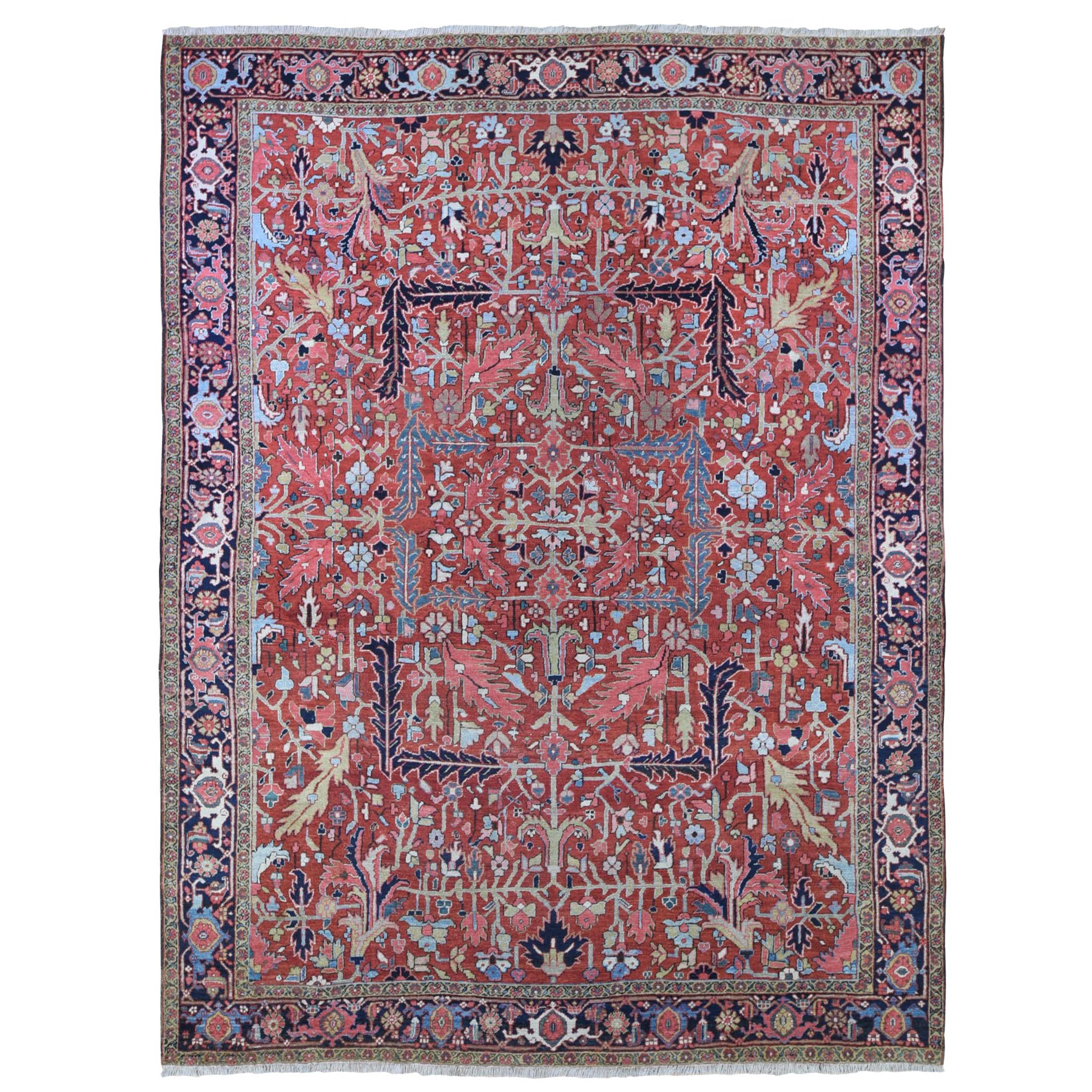 Antique Collection Hand Knotted Red Rug No: 1133306