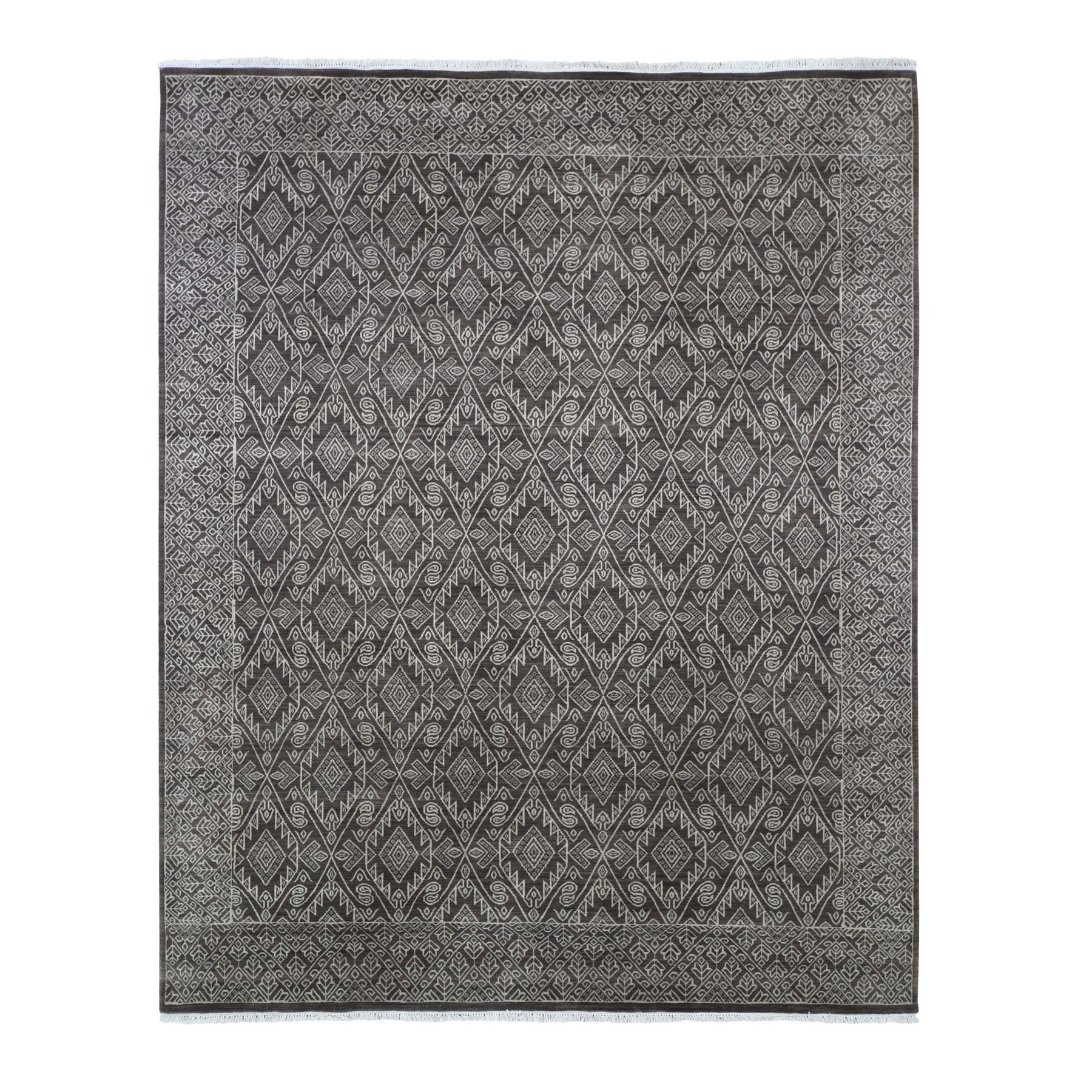 Nomadic And Village Collection Hand Knotted Brown Rug No: 1133422