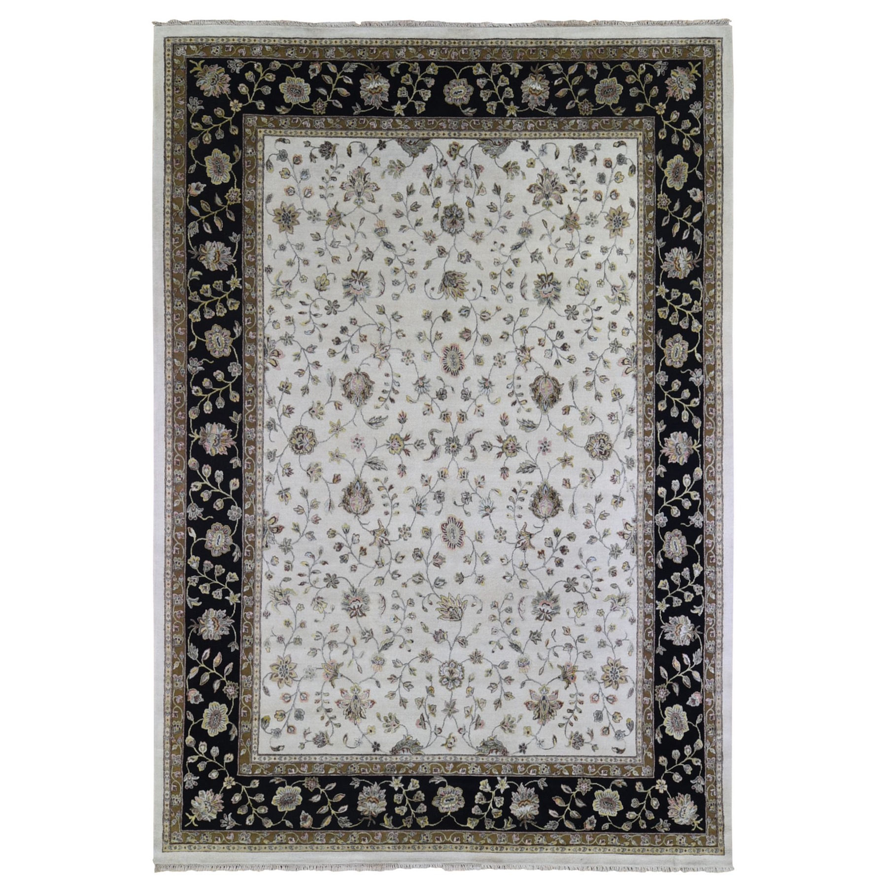 Pahlavi Collection Hand Knotted Ivory Rug No: 1133476