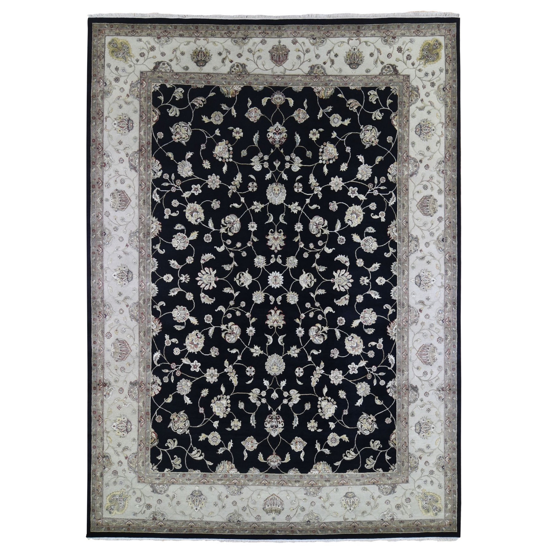 Pahlavi Collection Hand Knotted Black Rug No: 1133490
