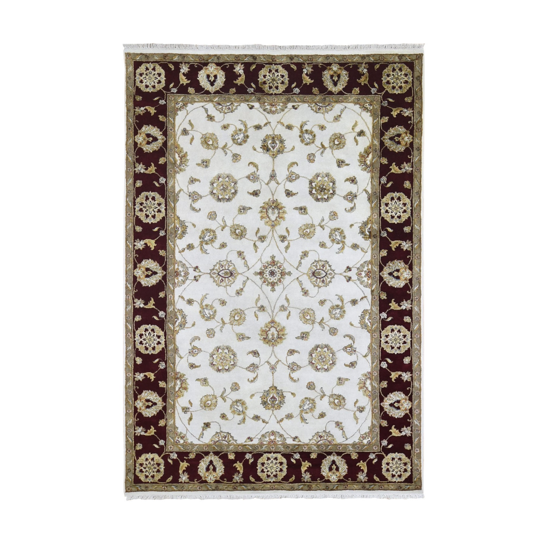 Pahlavi Collection Hand Knotted Ivory Rug No: 1133496