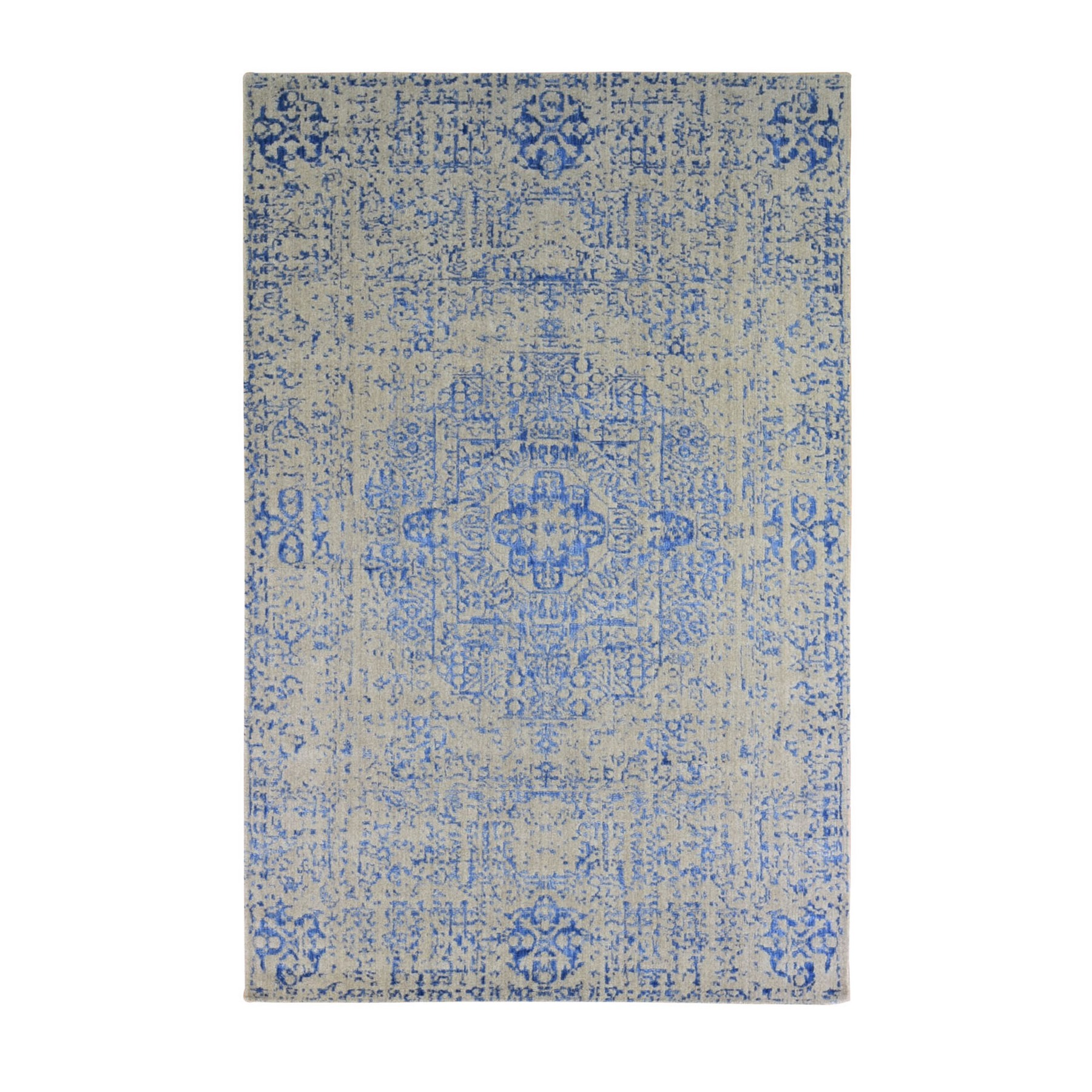Intricate Collection Hand Loomed Blue Rug No: 1133514