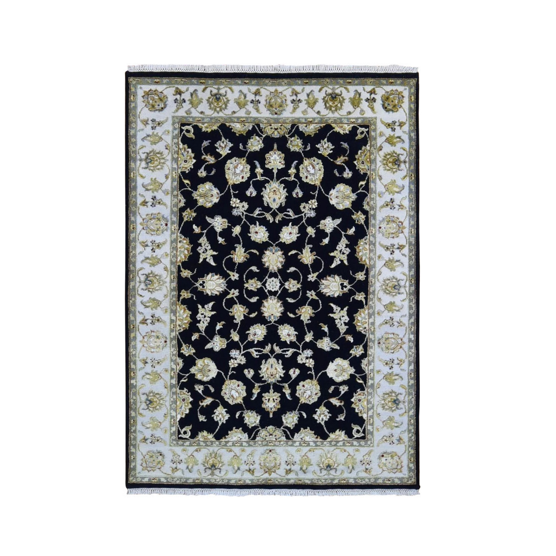 Pahlavi Collection Hand Knotted Black Rug No: 1133530
