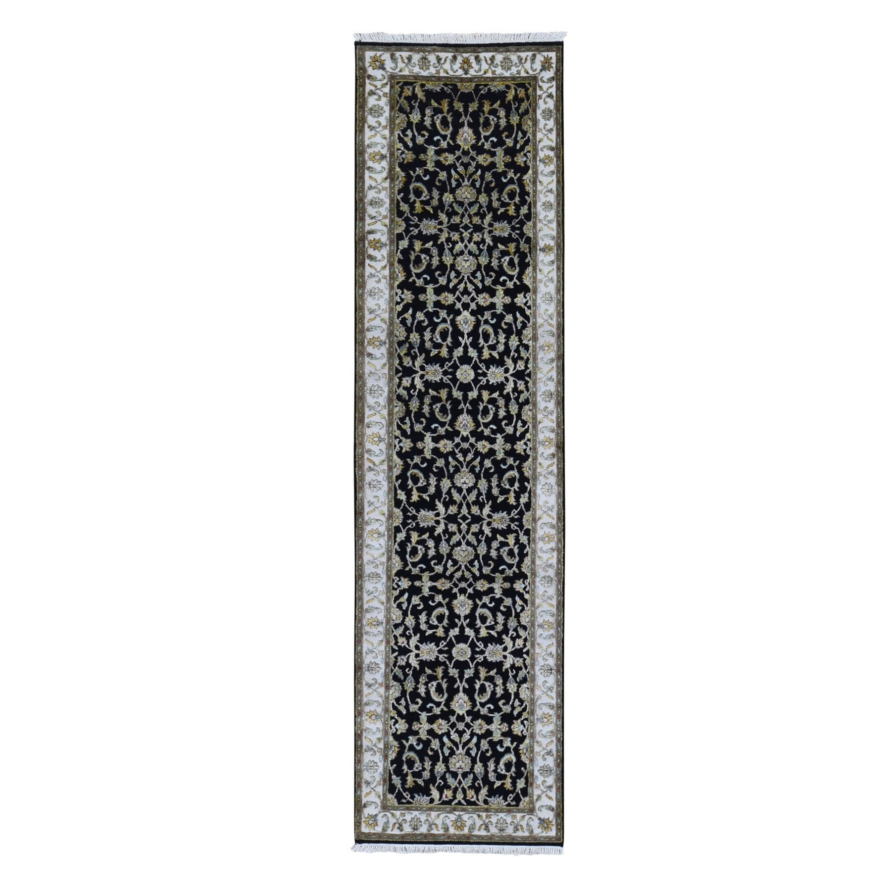 Pahlavi Collection Hand Knotted Black Rug No: 1133532