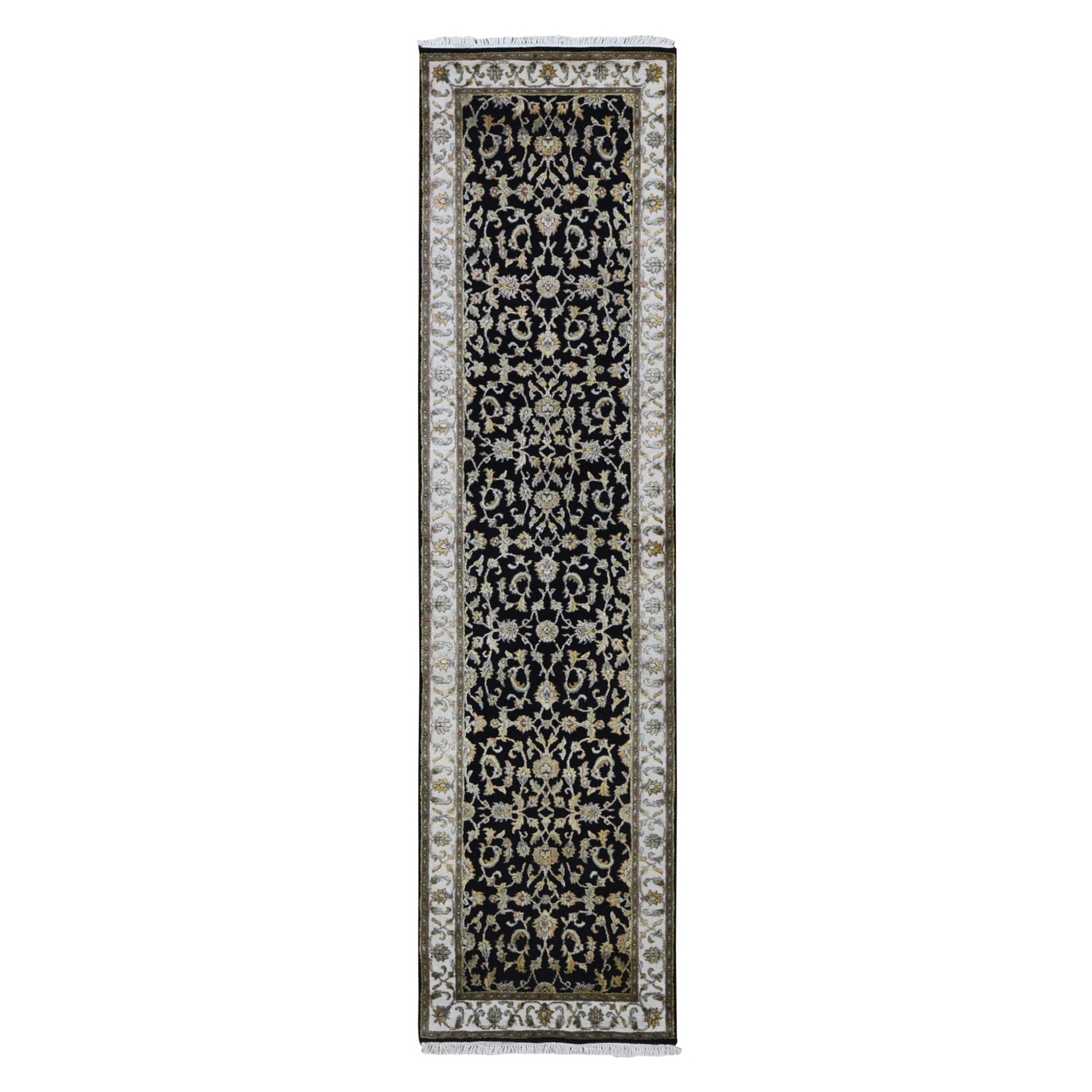 Pahlavi Collection Hand Knotted Black Rug No: 1133562