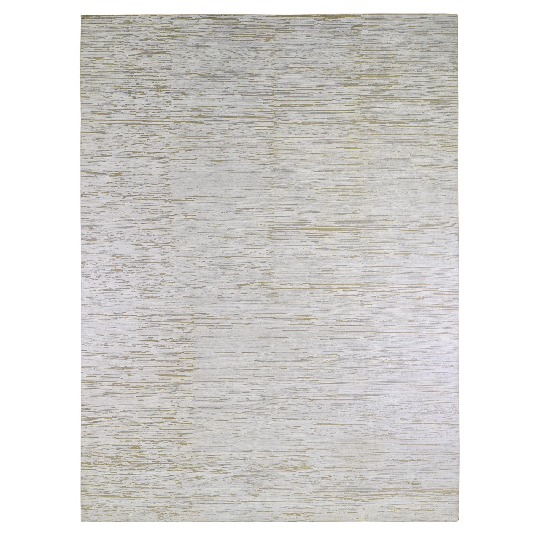 Mid Century Modern Collection Hand Knotted Ivory Rug No: 1133600