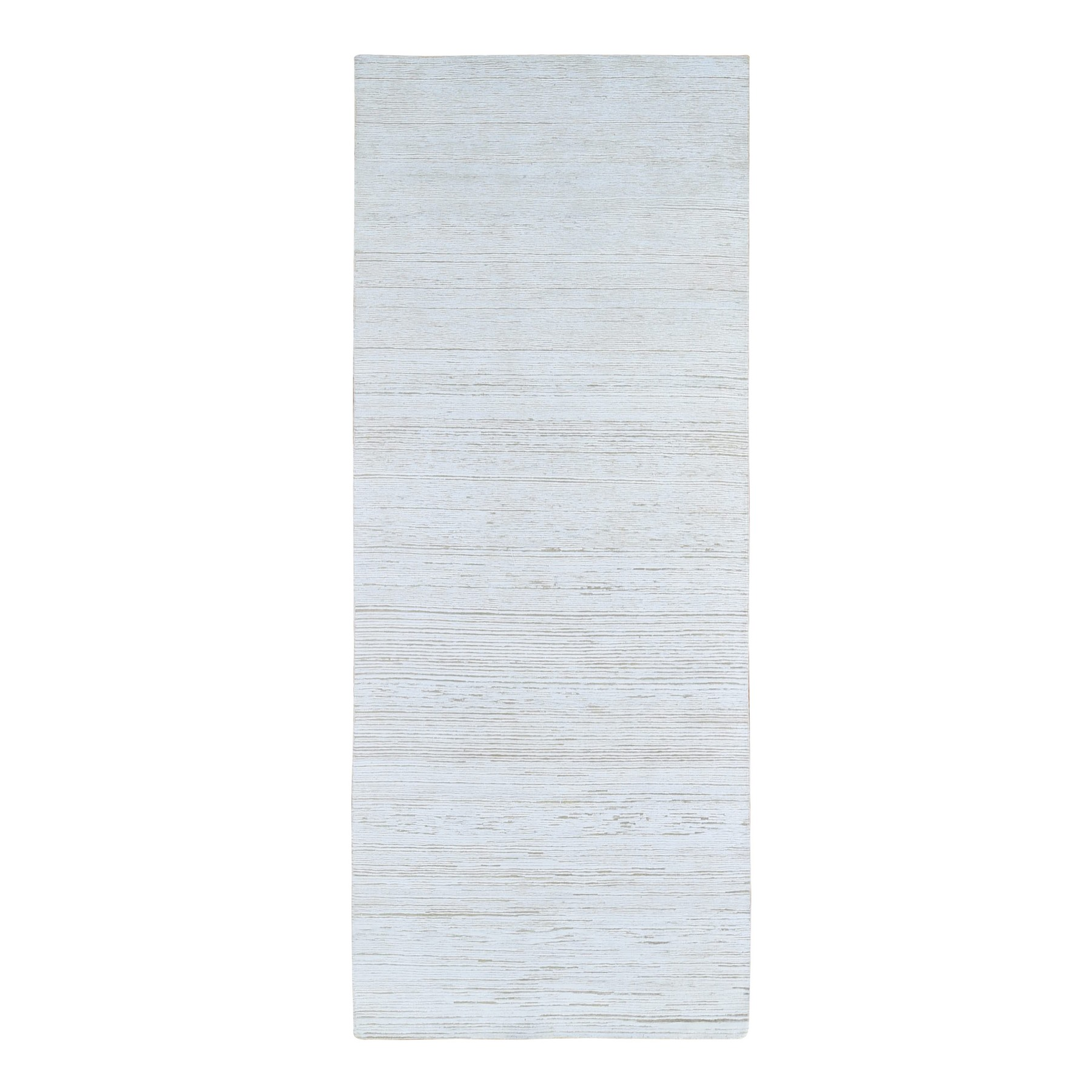 Mid Century Modern Collection Hand Knotted Ivory Rug No: 1133606