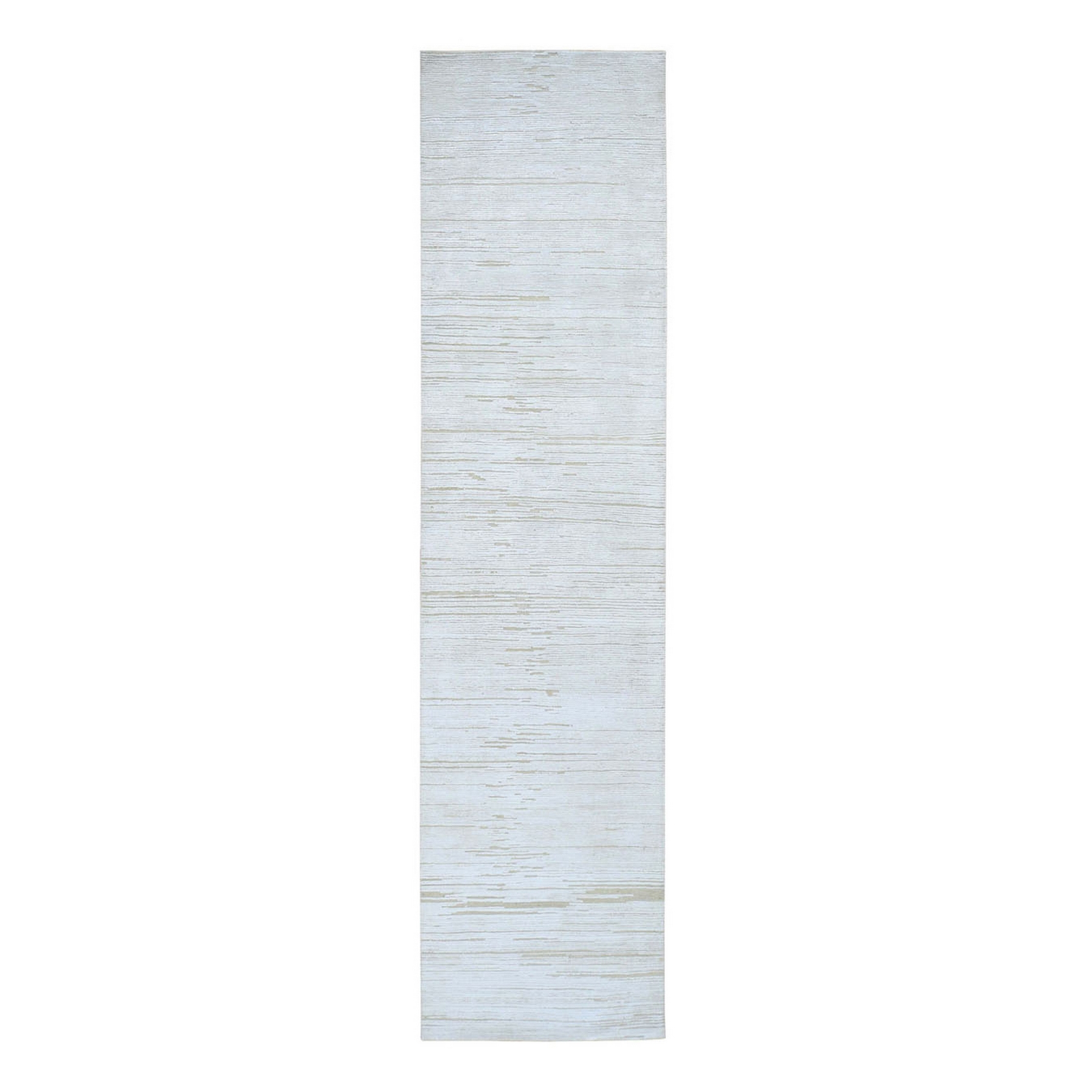Mid Century Modern Collection Hand Knotted Ivory Rug No: 1133612