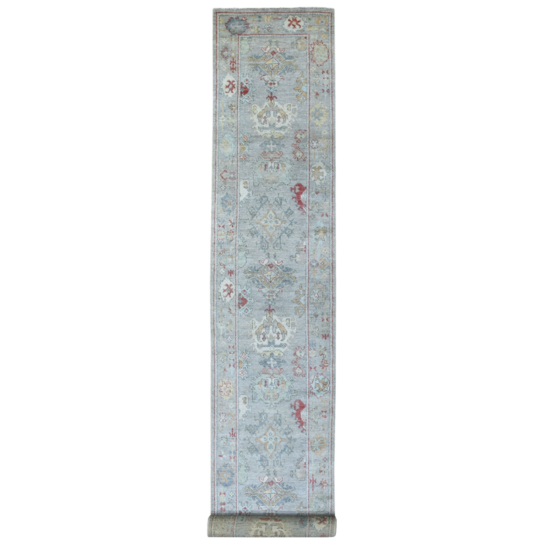 Agra And Turkish Collection Hand Knotted Grey Rug No: 1134848