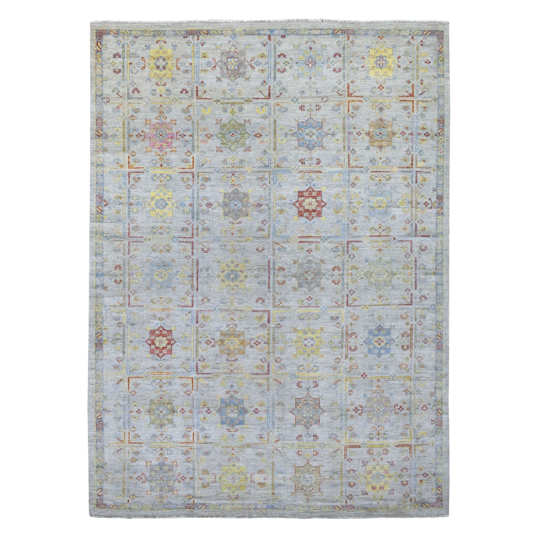 Nomadic And Village Collection Hand Knotted Grey Rug No: 1134974