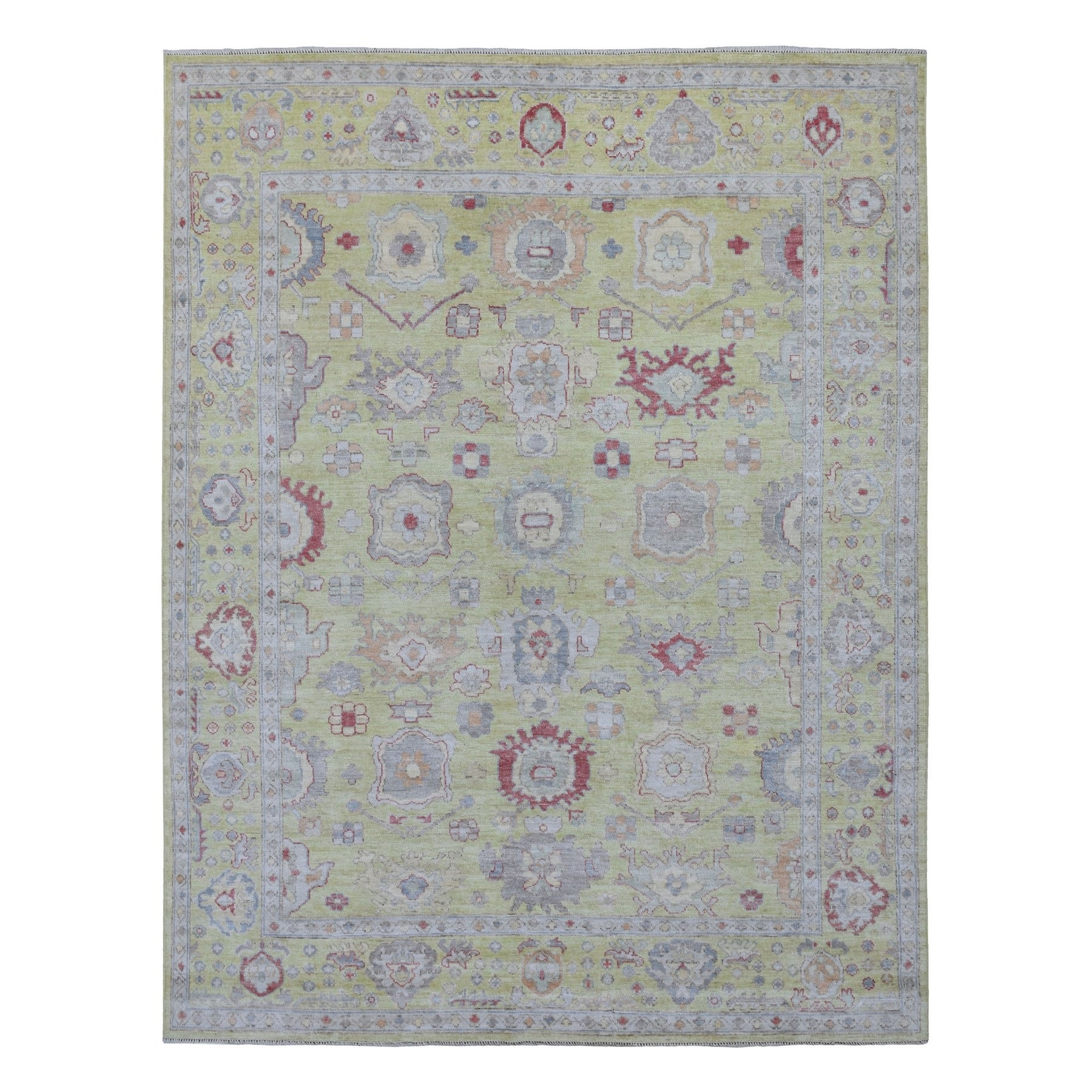 Agra And Turkish Collection Hand Knotted Yellow Rug No: 1135070