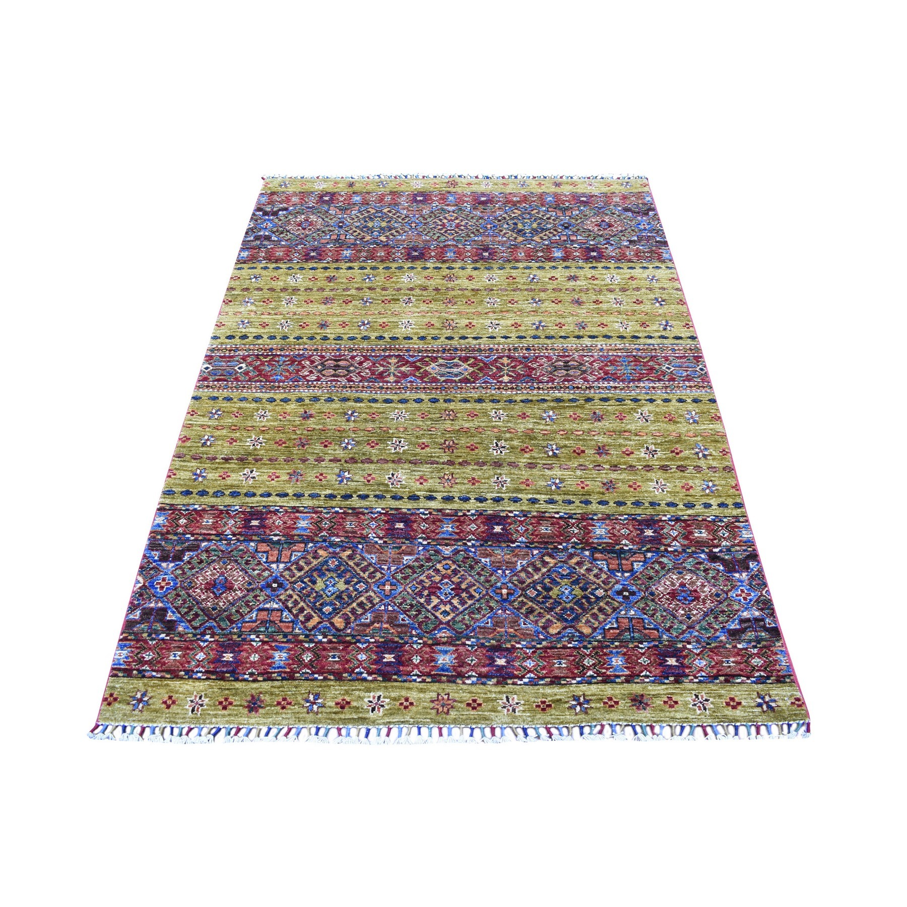 Caucasian Collection Hand Knotted Yellow Rug No: 1135222