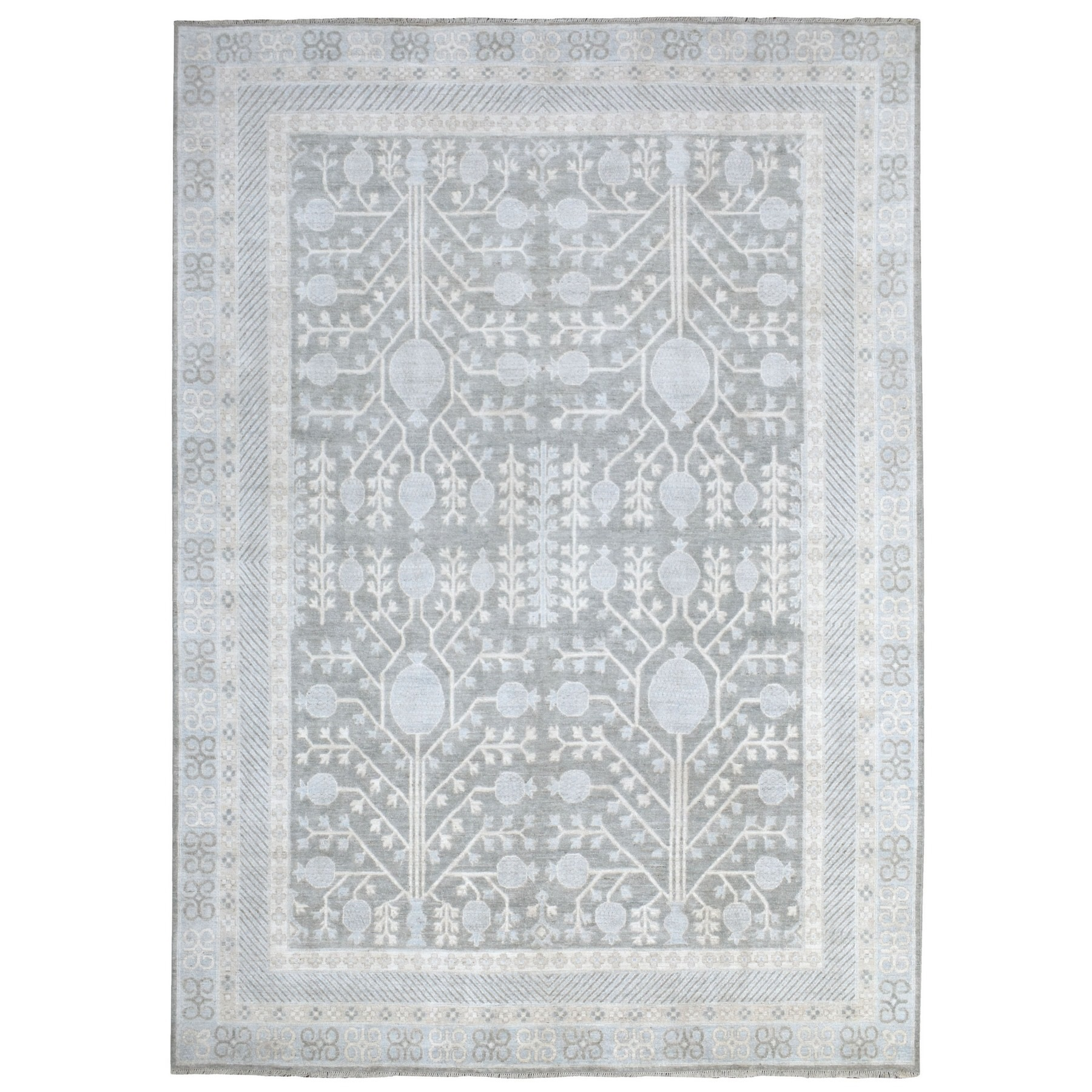 Agra And Turkish Collection Hand Knotted Grey Rug No: 1135364