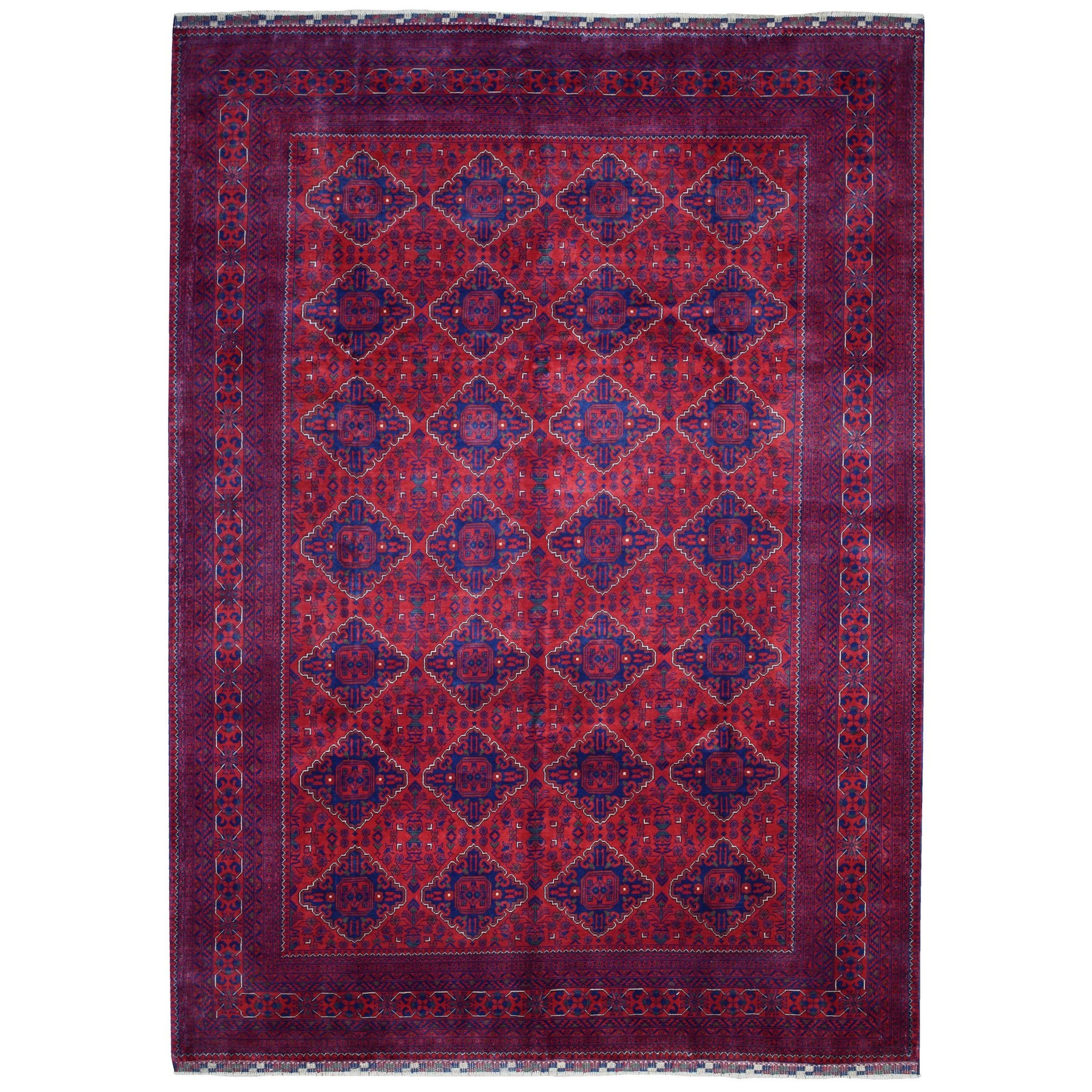 Nomadic And Village Collection Hand Knotted Red Rug No: 1135400
