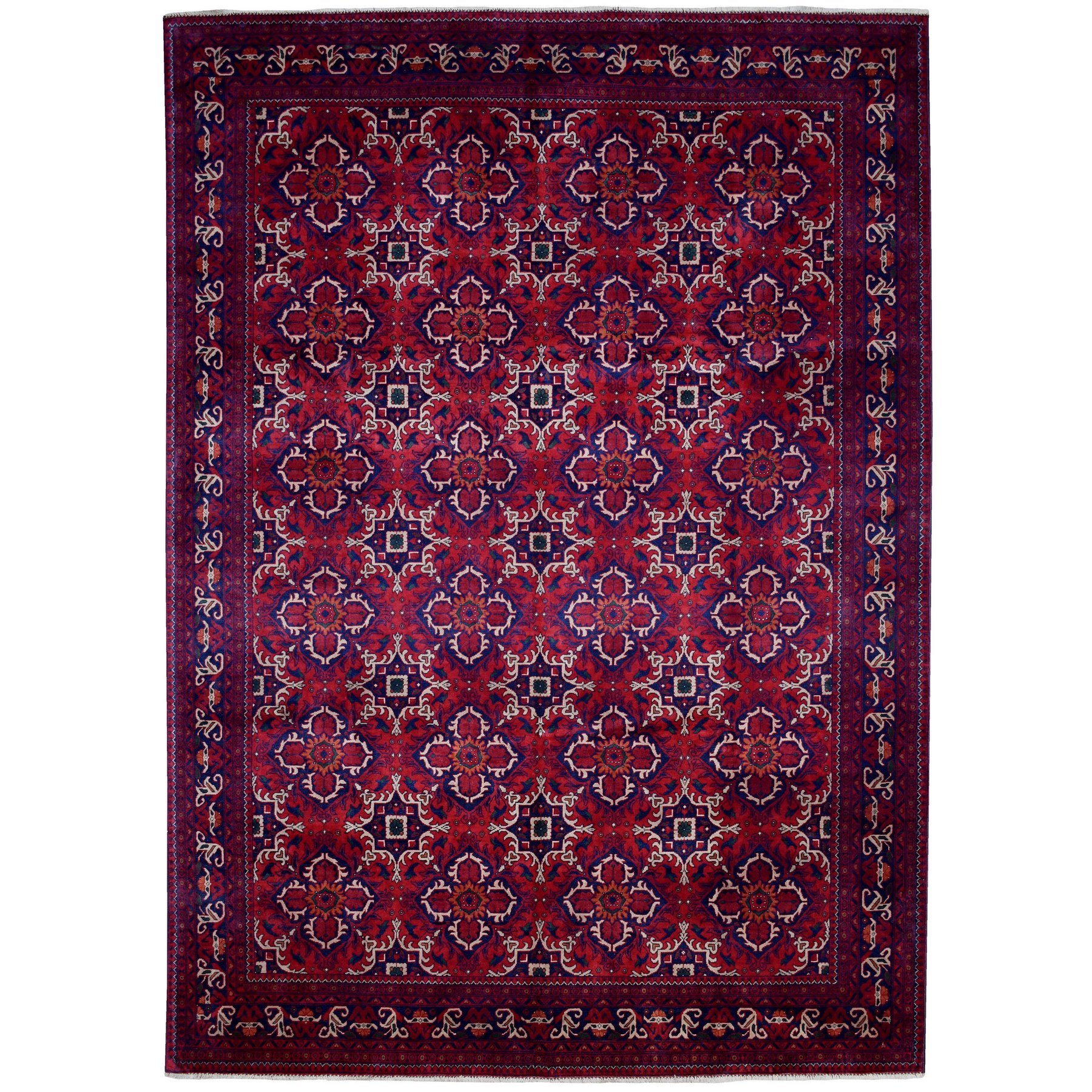 Nomadic And Village Collection Hand Knotted Red Rug No: 1135402